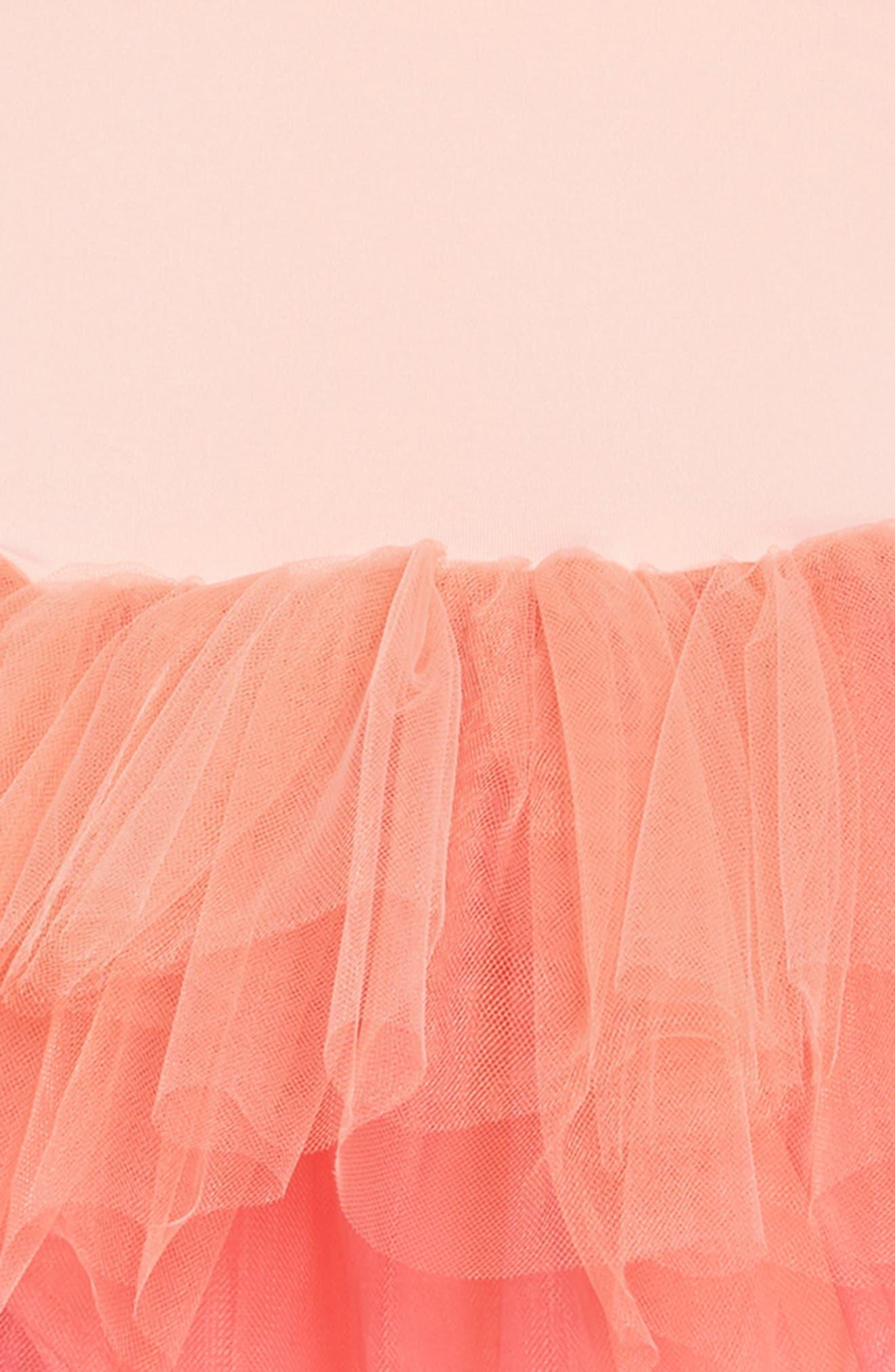 Tutu Dress,                             Alternate thumbnail 3, color,                             Ombre Coral
