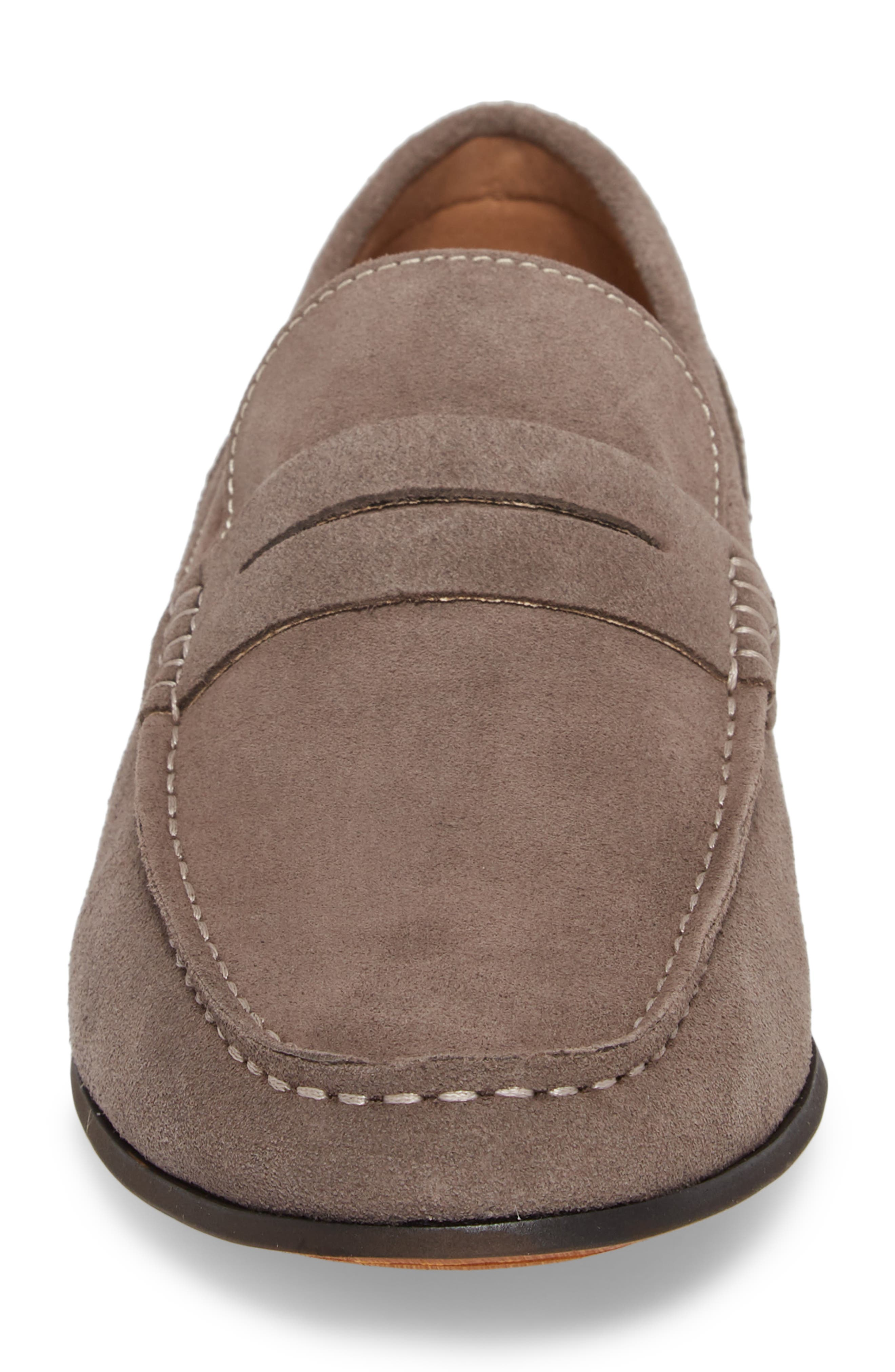 Crespo Penny Loafer,                             Alternate thumbnail 4, color,                             Grey
