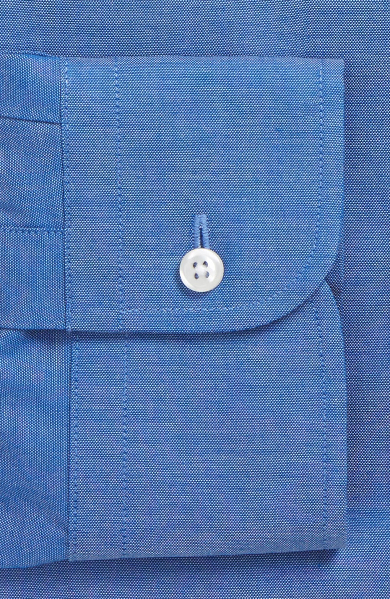 Classic Fit Non-Iron Solid Dress Shirt,                             Alternate thumbnail 5, color,                             Blue French