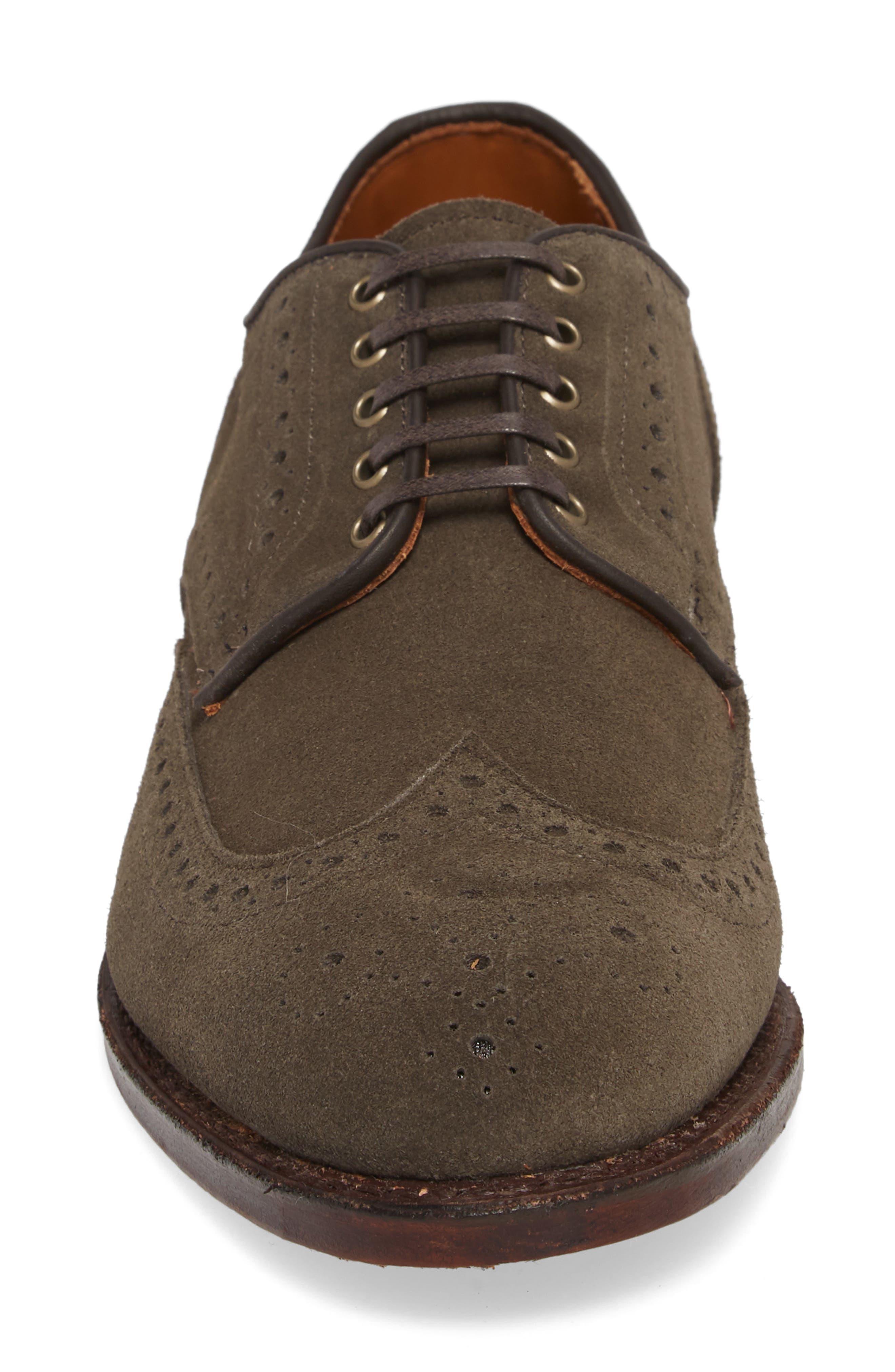 Shane Wingtip Derby,                             Alternate thumbnail 4, color,                             Slate Leather