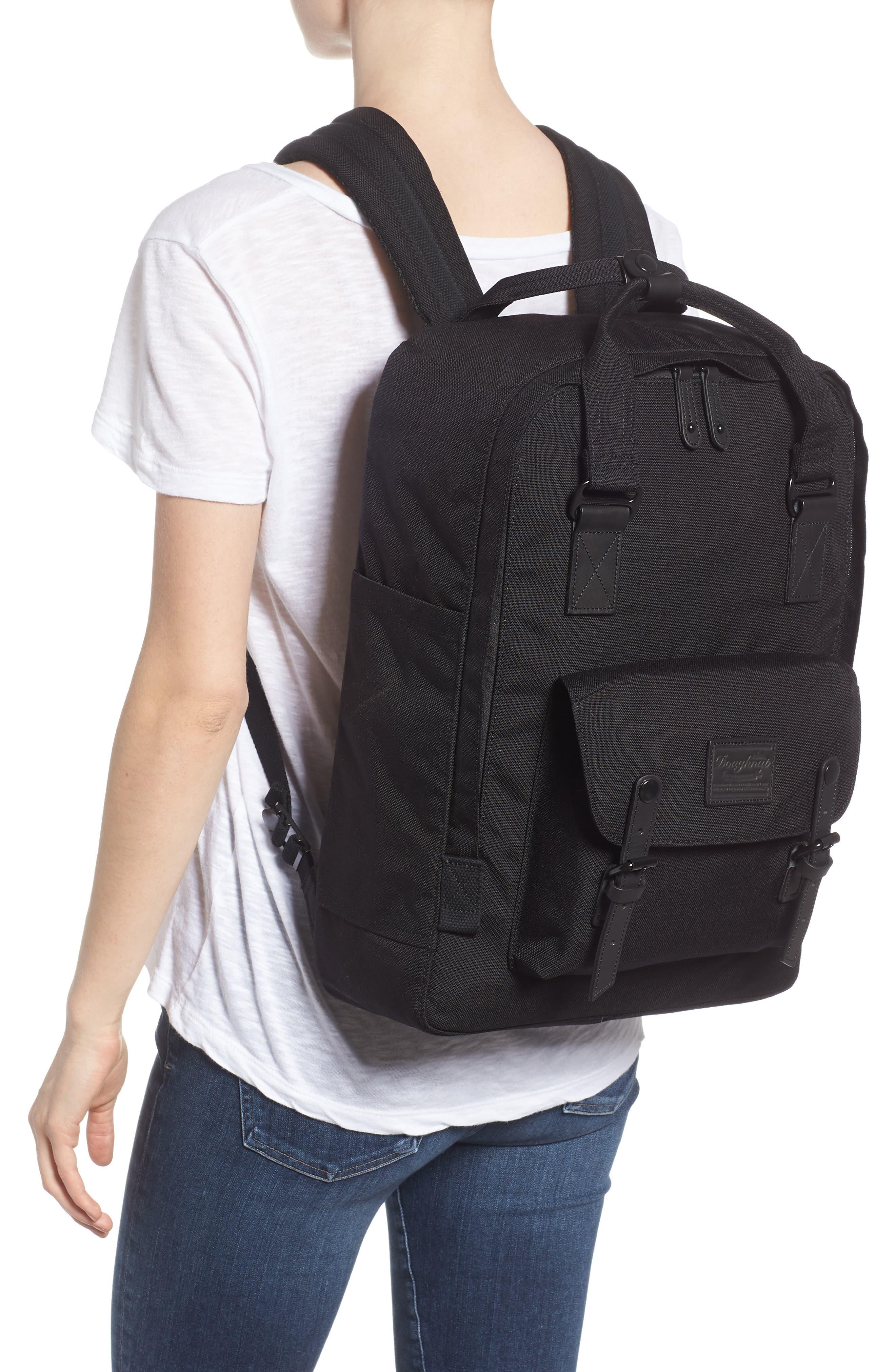 Macaroon Large Cordura<sup>®</sup> Black Series Water Repellent Backpack,                             Alternate thumbnail 2, color,                             Black