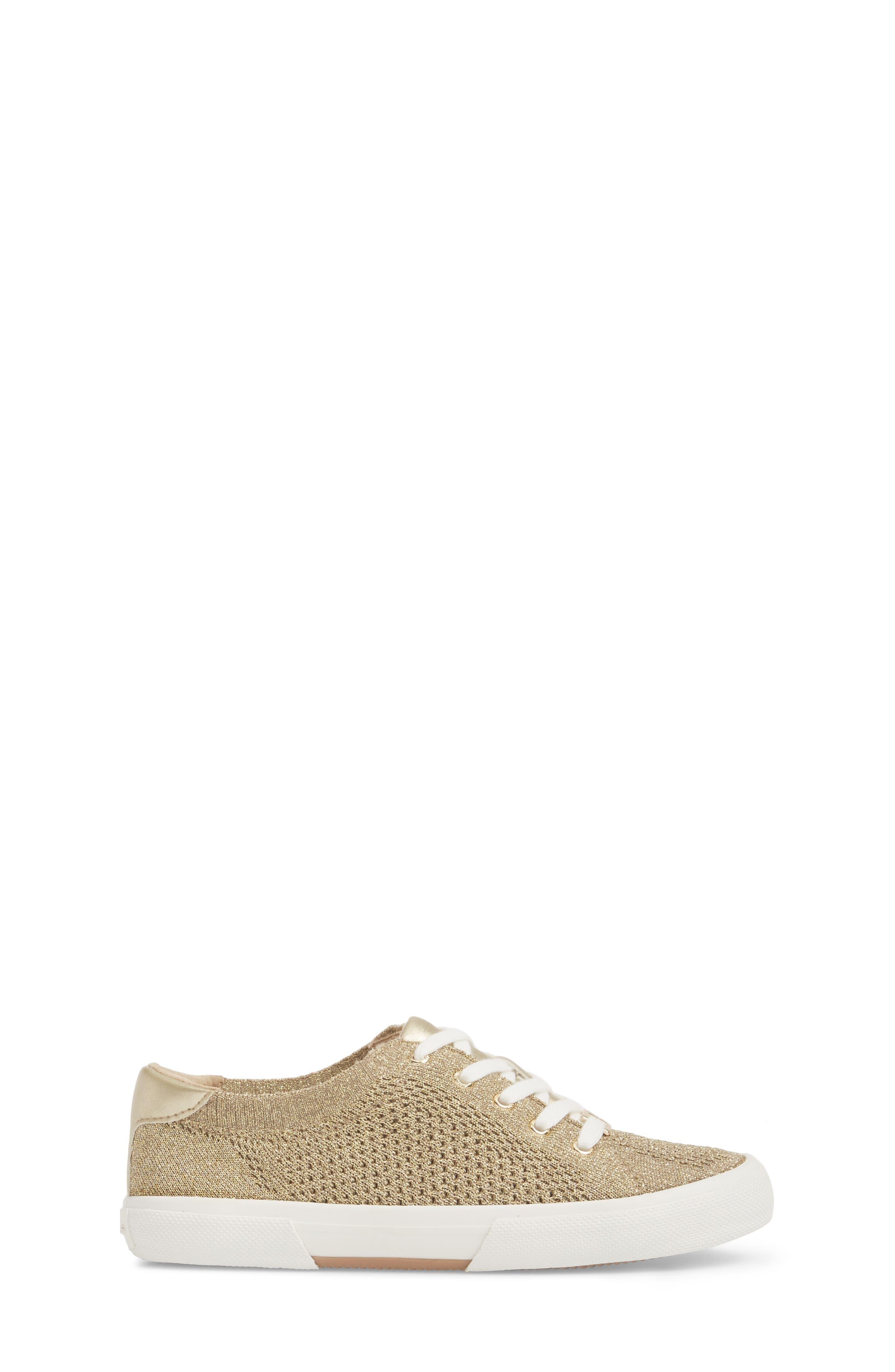 Ima Metallic Knit Sneaker,                             Alternate thumbnail 3, color,                             Gold