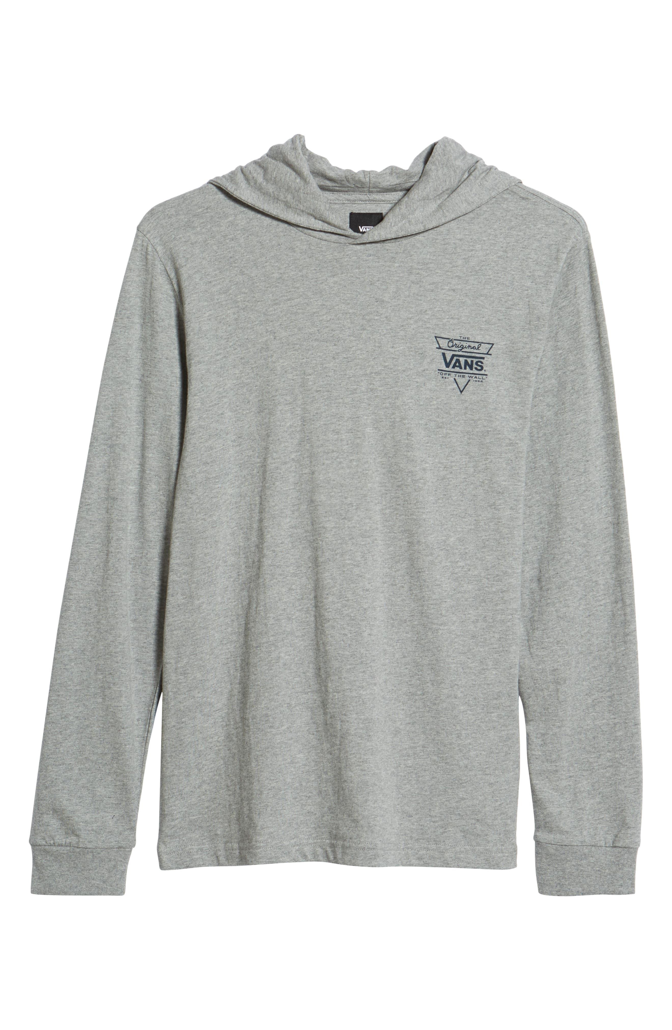 Van Doren Hooded T-Shirt,                             Alternate thumbnail 6, color,                             Cement Heather/ Dress Blues