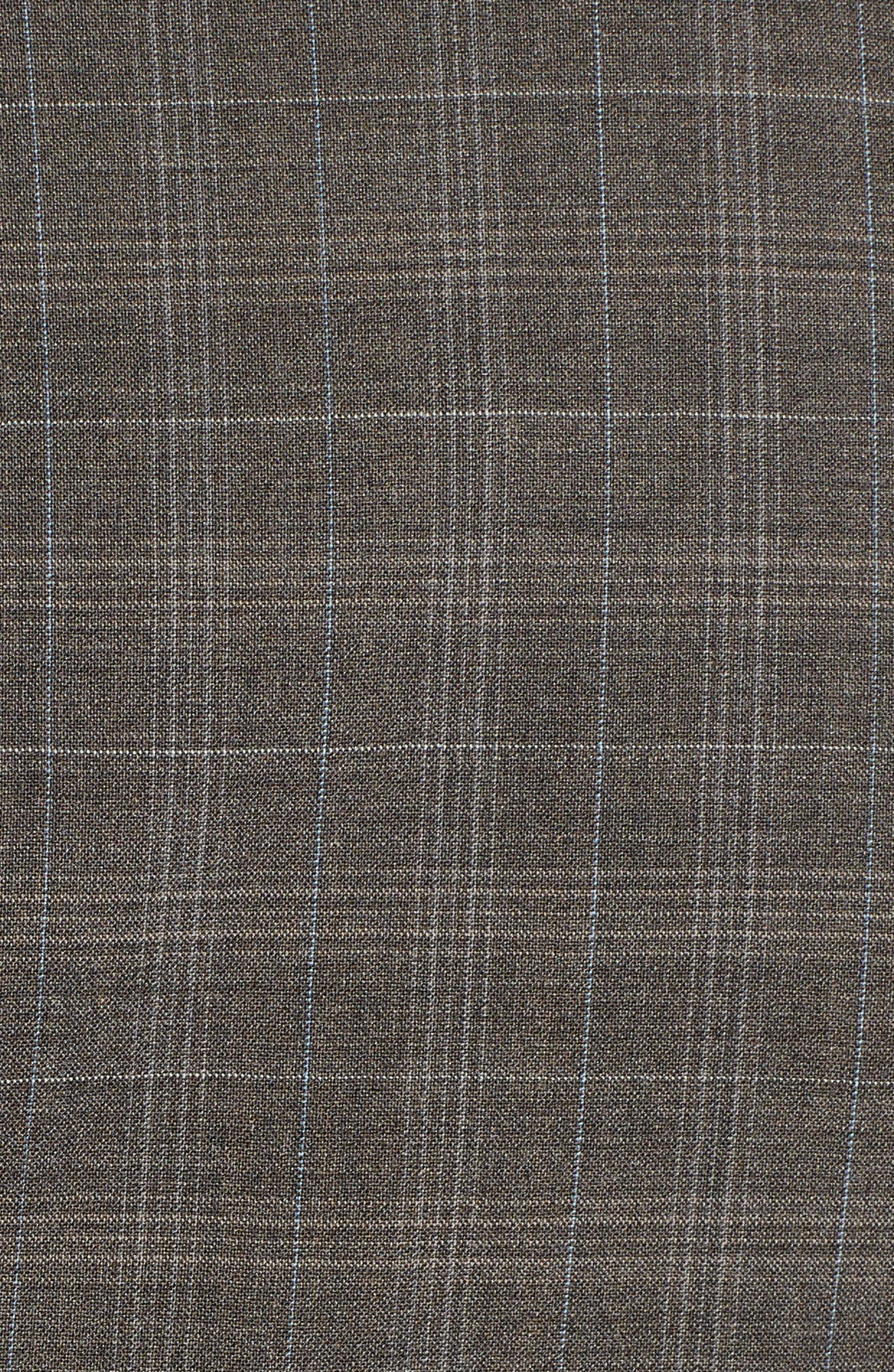 Classic Fit Plaid Stretch Wool Suit,                             Alternate thumbnail 7, color,                             Brown