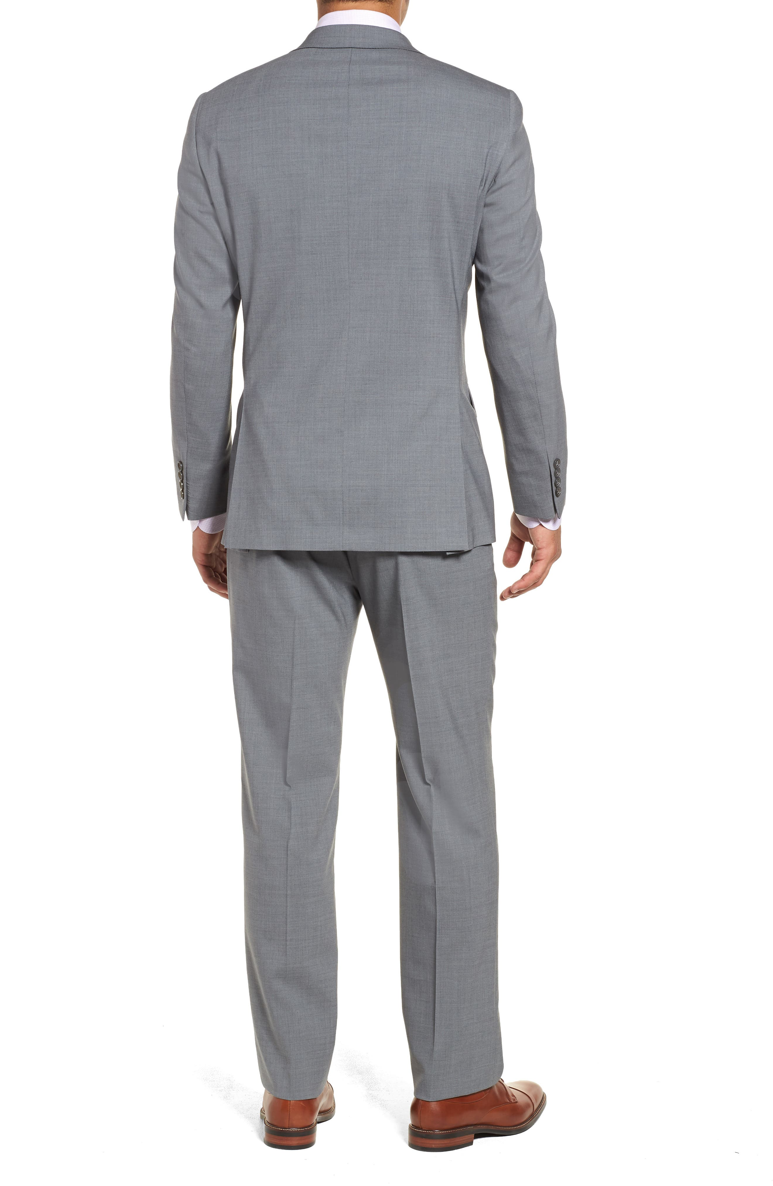 Classic Fit Solid Stretch Wool Suit,                             Alternate thumbnail 2, color,                             Grey