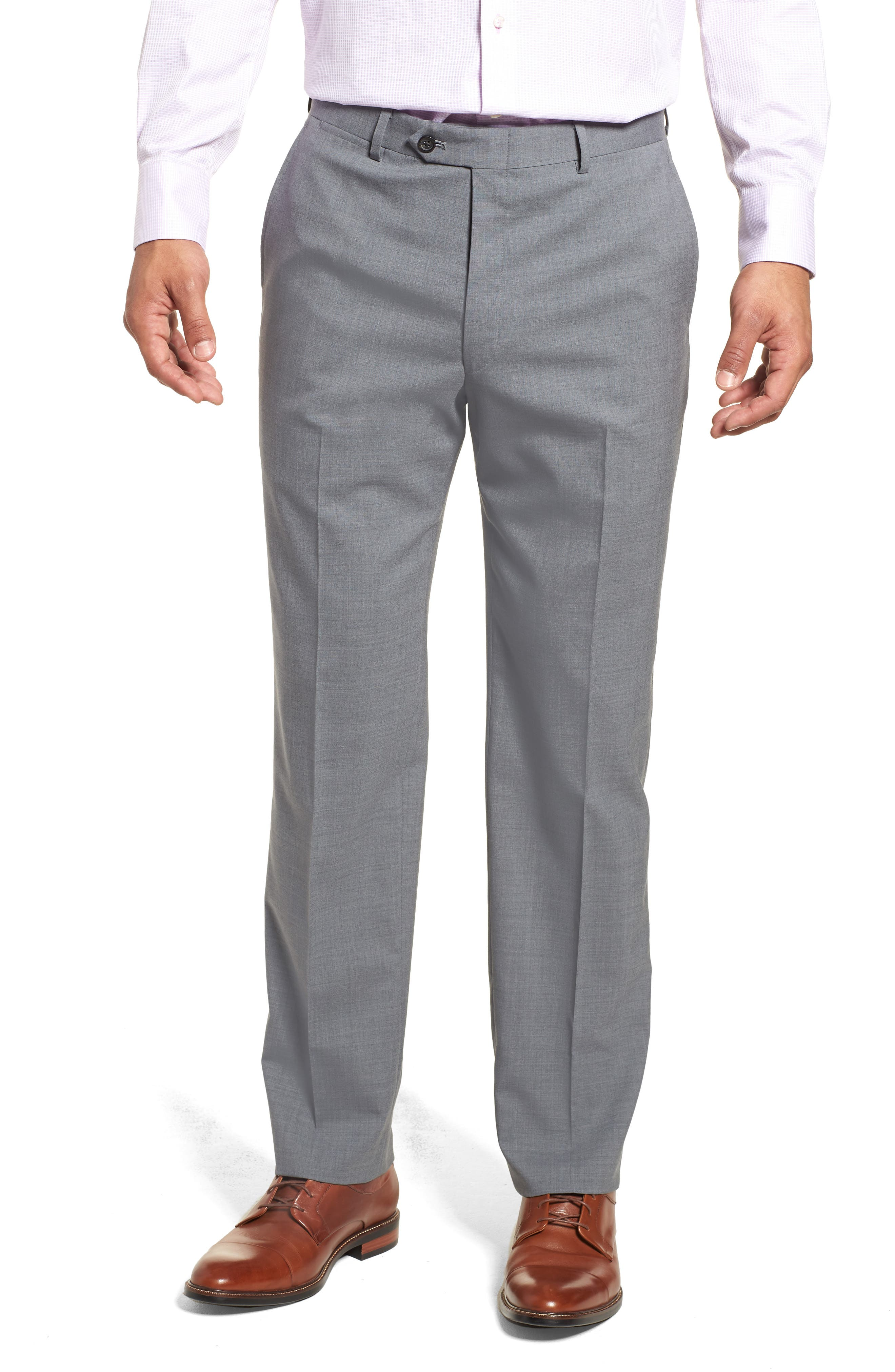 Classic Fit Solid Stretch Wool Suit,                             Alternate thumbnail 6, color,                             Grey