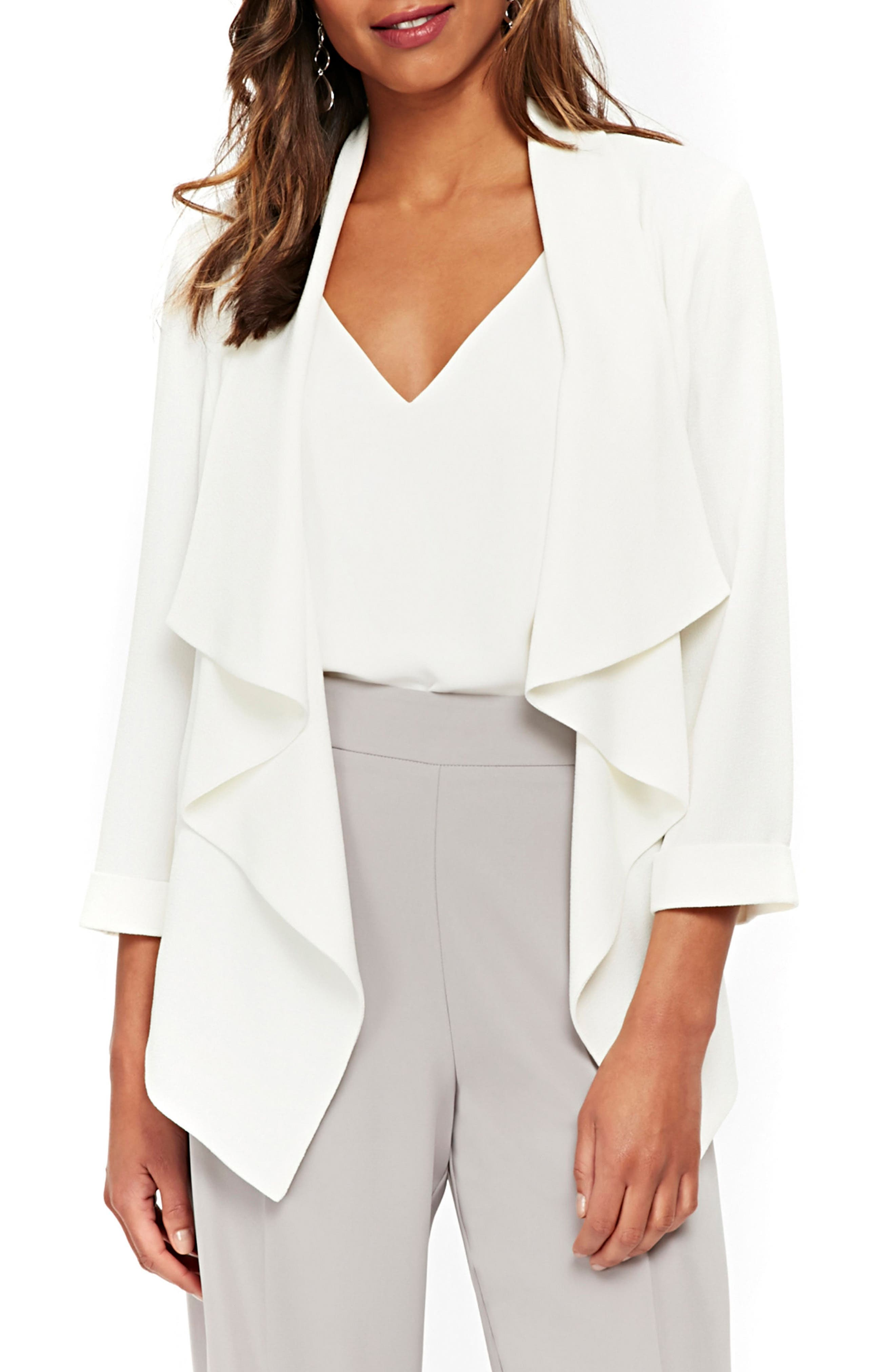 Waterfall Jacket,                         Main,                         color, Ivory