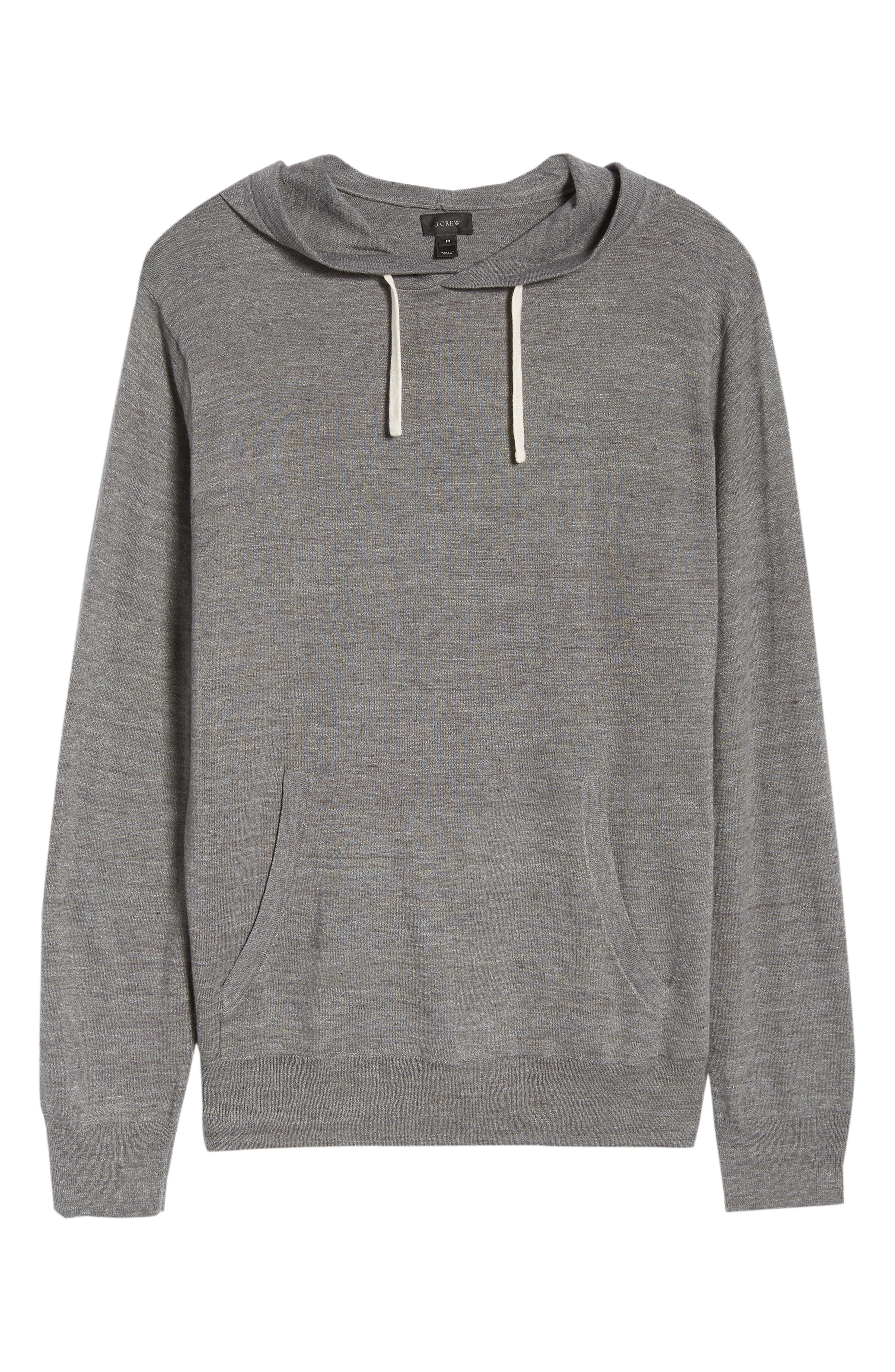 Lightweight Pullover Hoodie,                             Alternate thumbnail 6, color,                             Heather Pewter