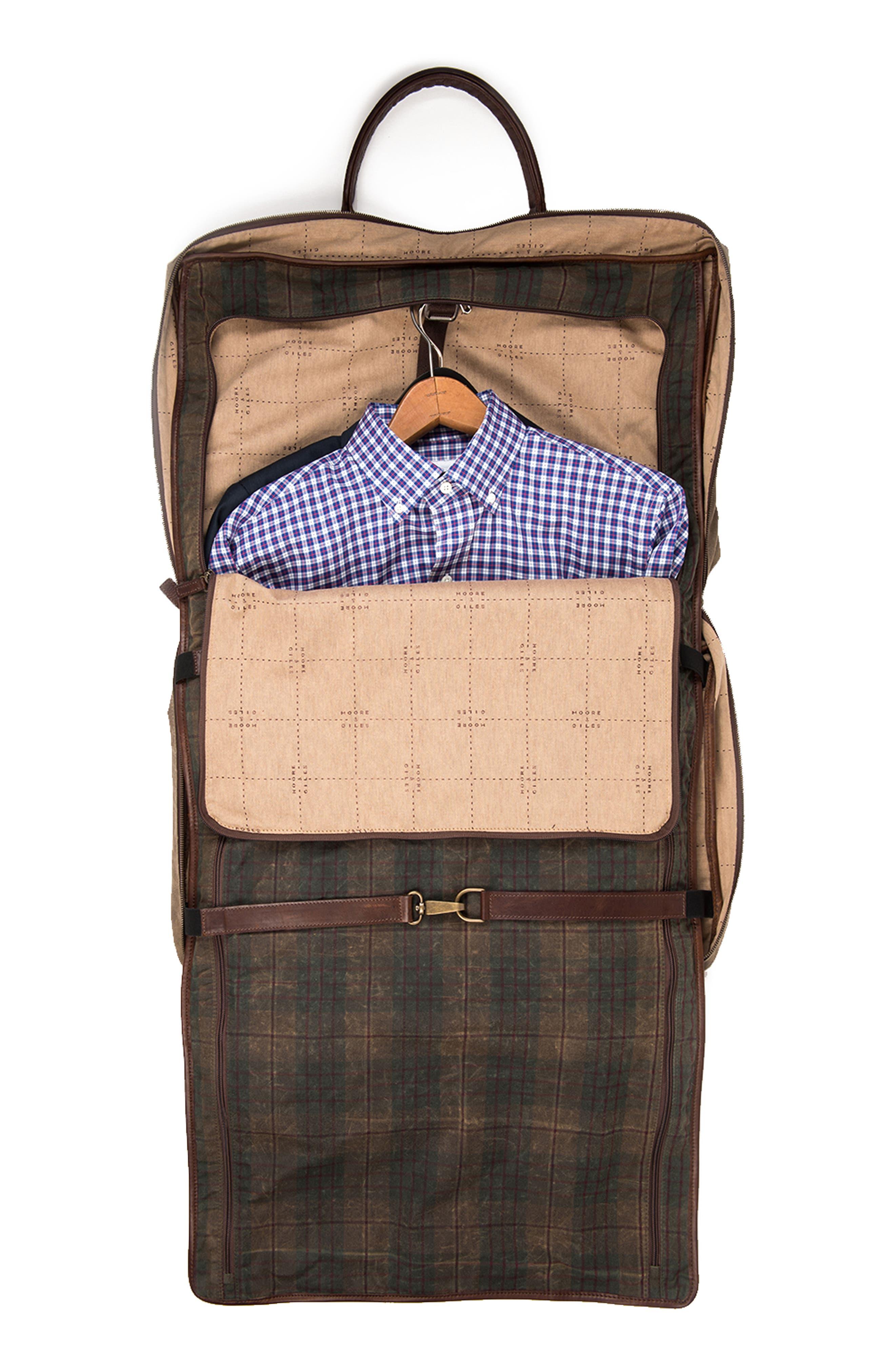 Tinsley Trifold Garment Bag,                             Alternate thumbnail 4, color,                             Baldwin Oak