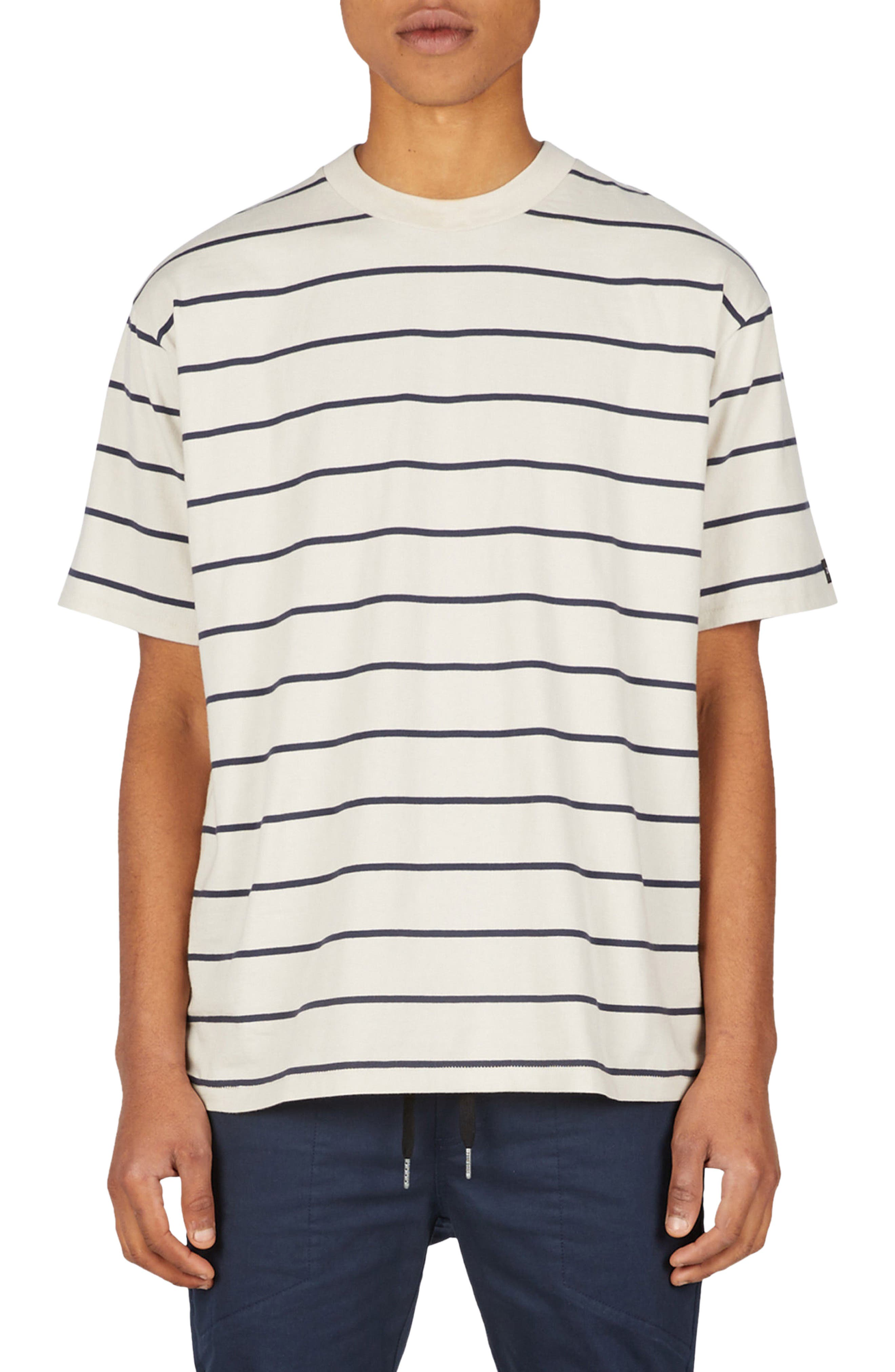 Stripe Box T-Shirt,                         Main,                         color, Natural/ Duke Blue