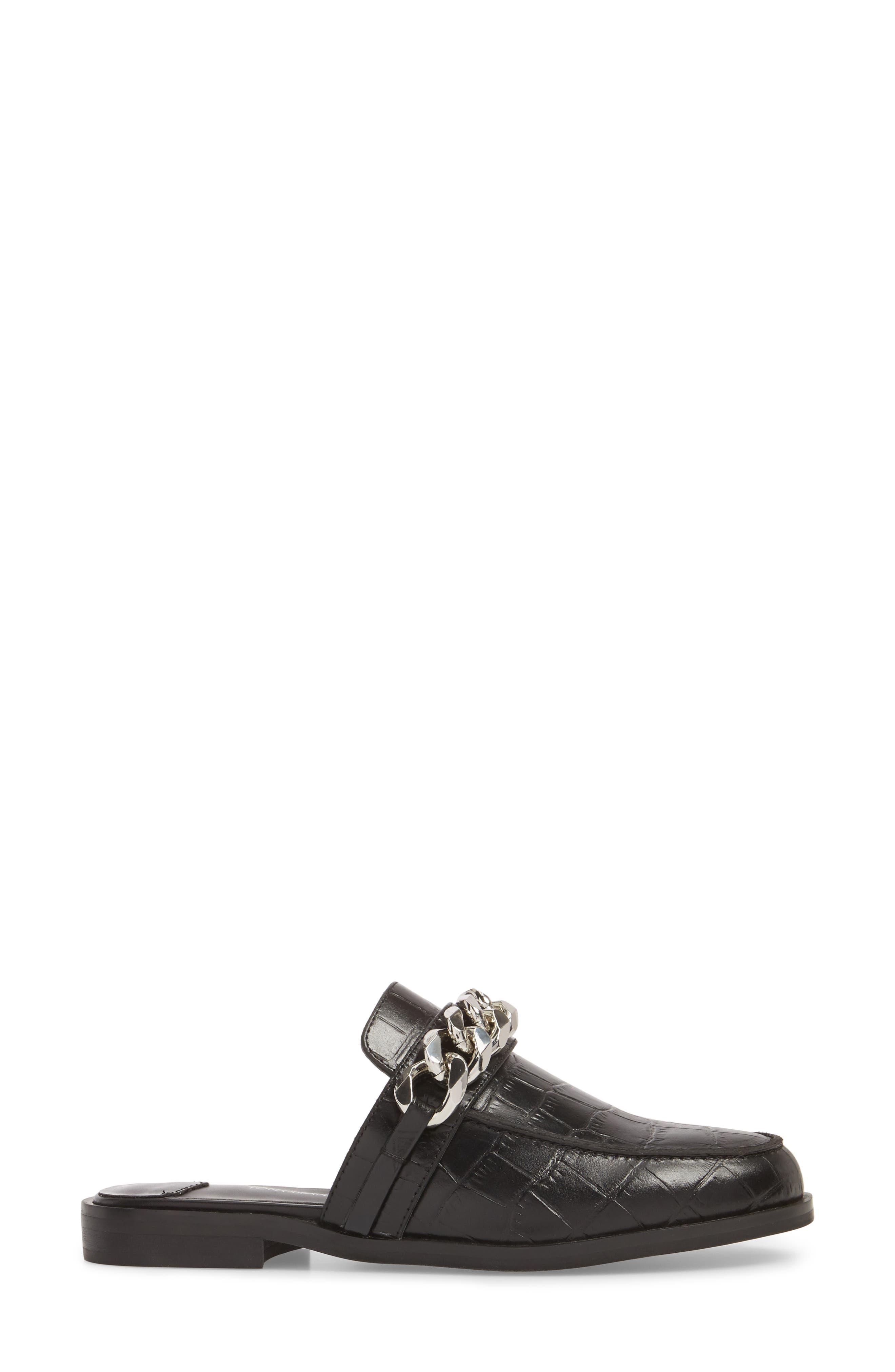 Dion Mule,                             Alternate thumbnail 3, color,                             Black Leather