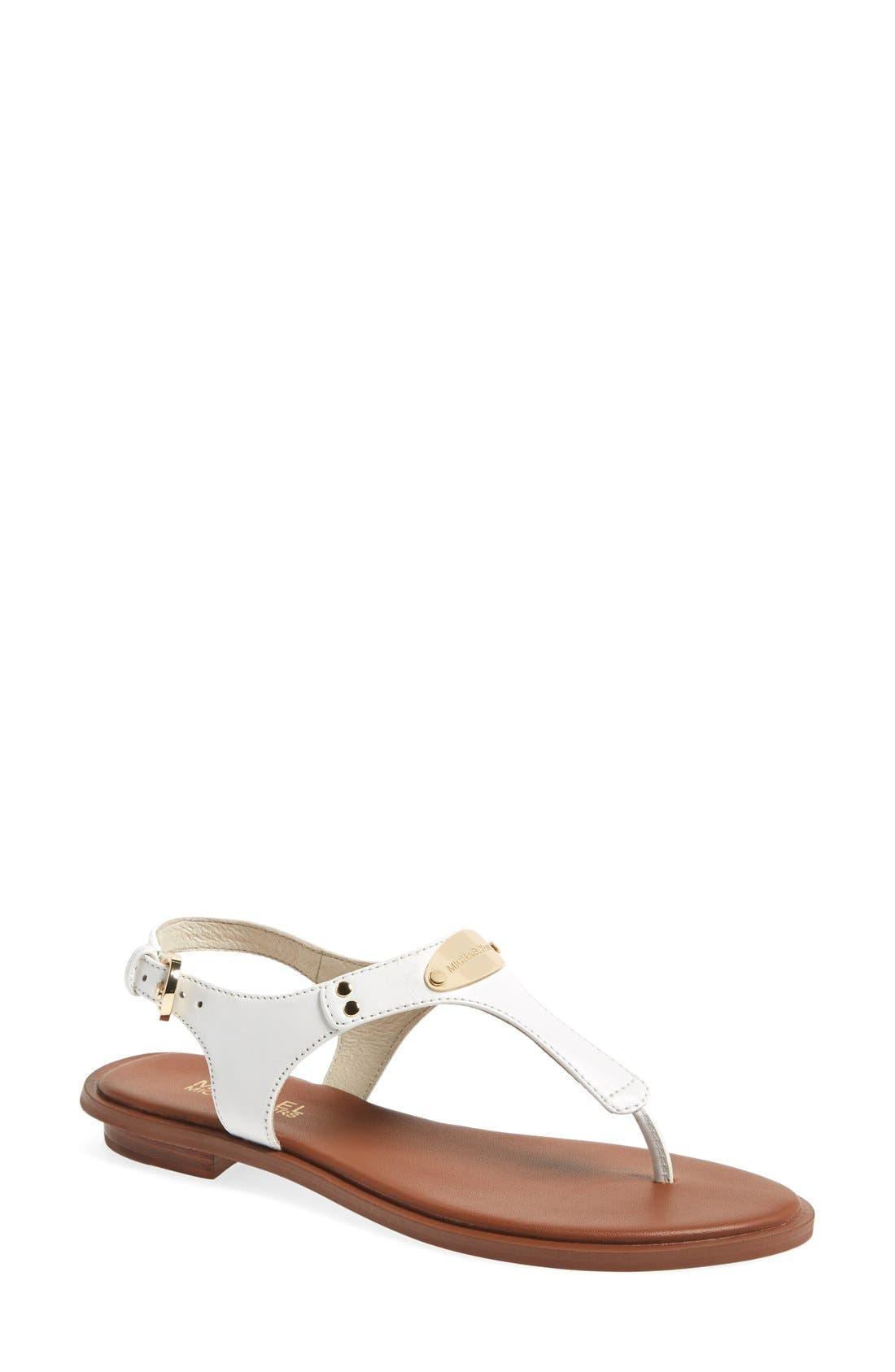 Alternate Image 1 Selected - MICHAEL Michael Kors 'Plate' Thong Sandal