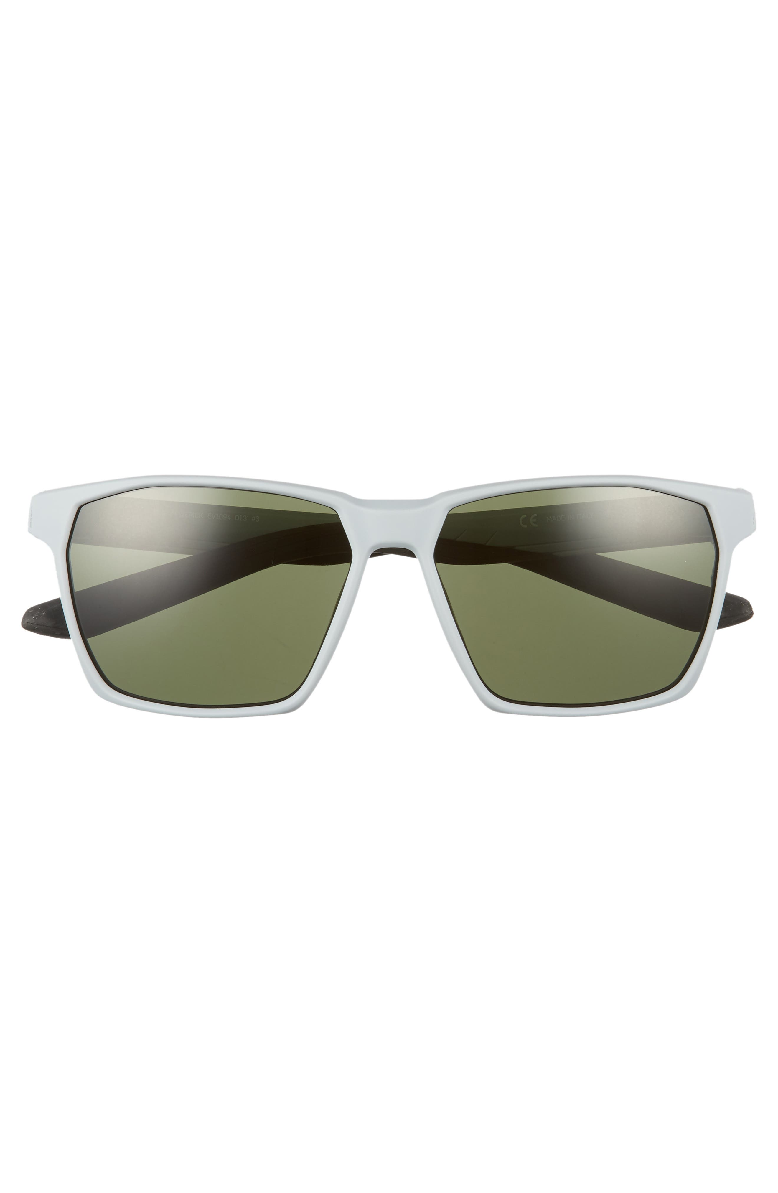 Maverick 59mm Sunglasses,                             Alternate thumbnail 2, color,                             Matte Wolf Grey/ Green