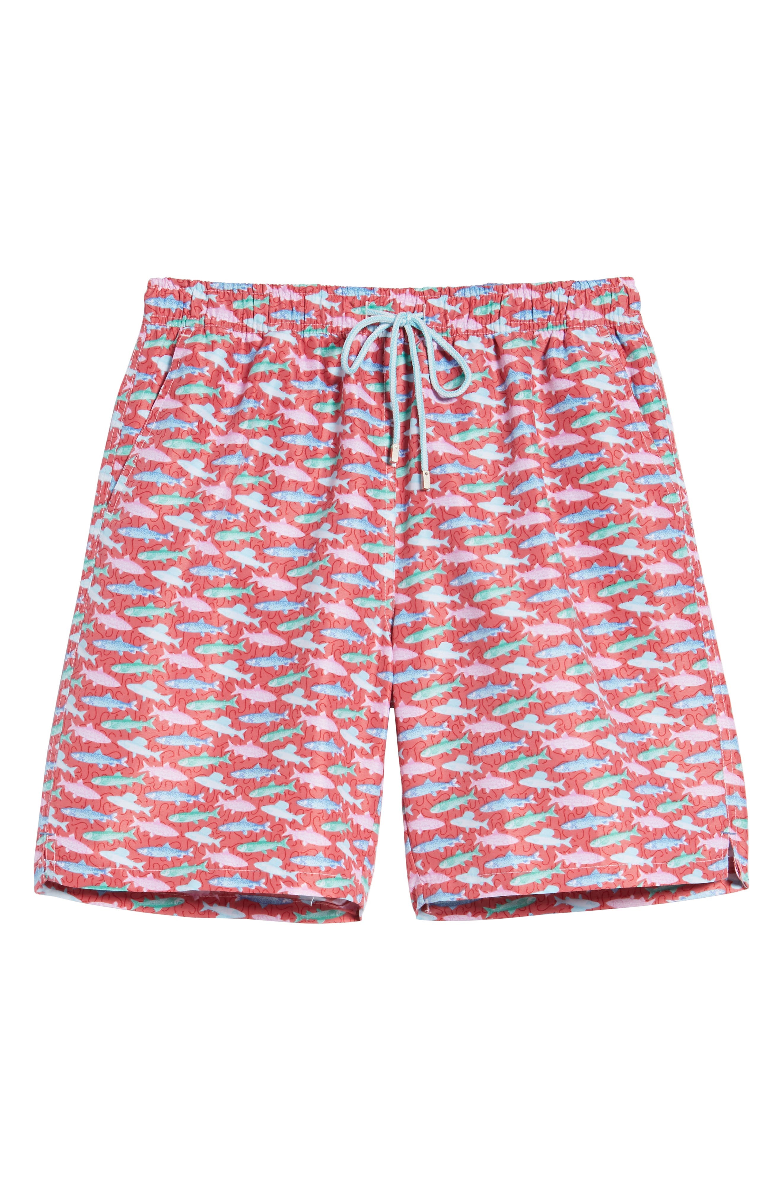 Fishermans Catch Swim Trunks,                             Alternate thumbnail 6, color,                             Cape Red