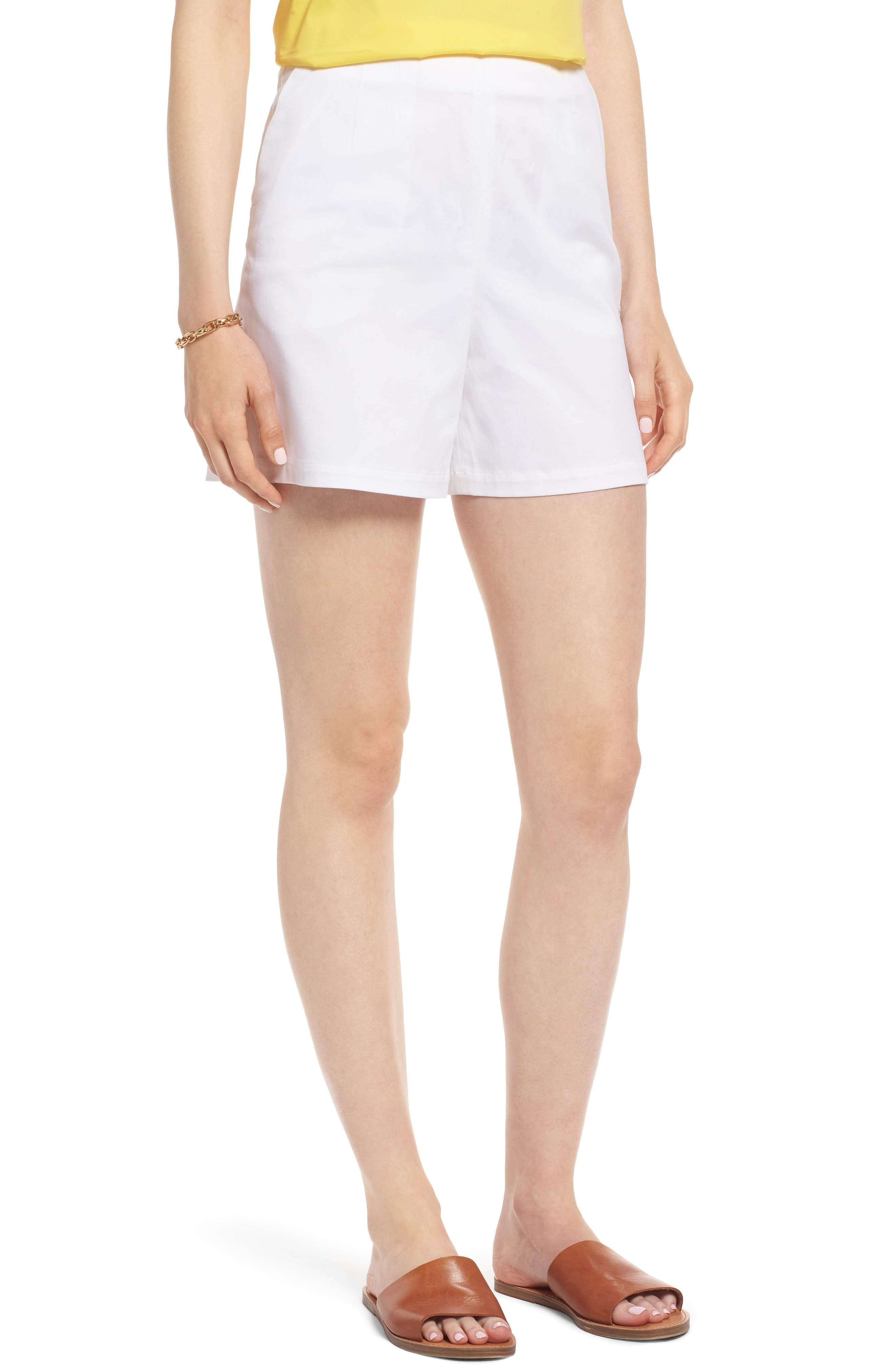 Clean Twill Shorts,                         Main,                         color, White