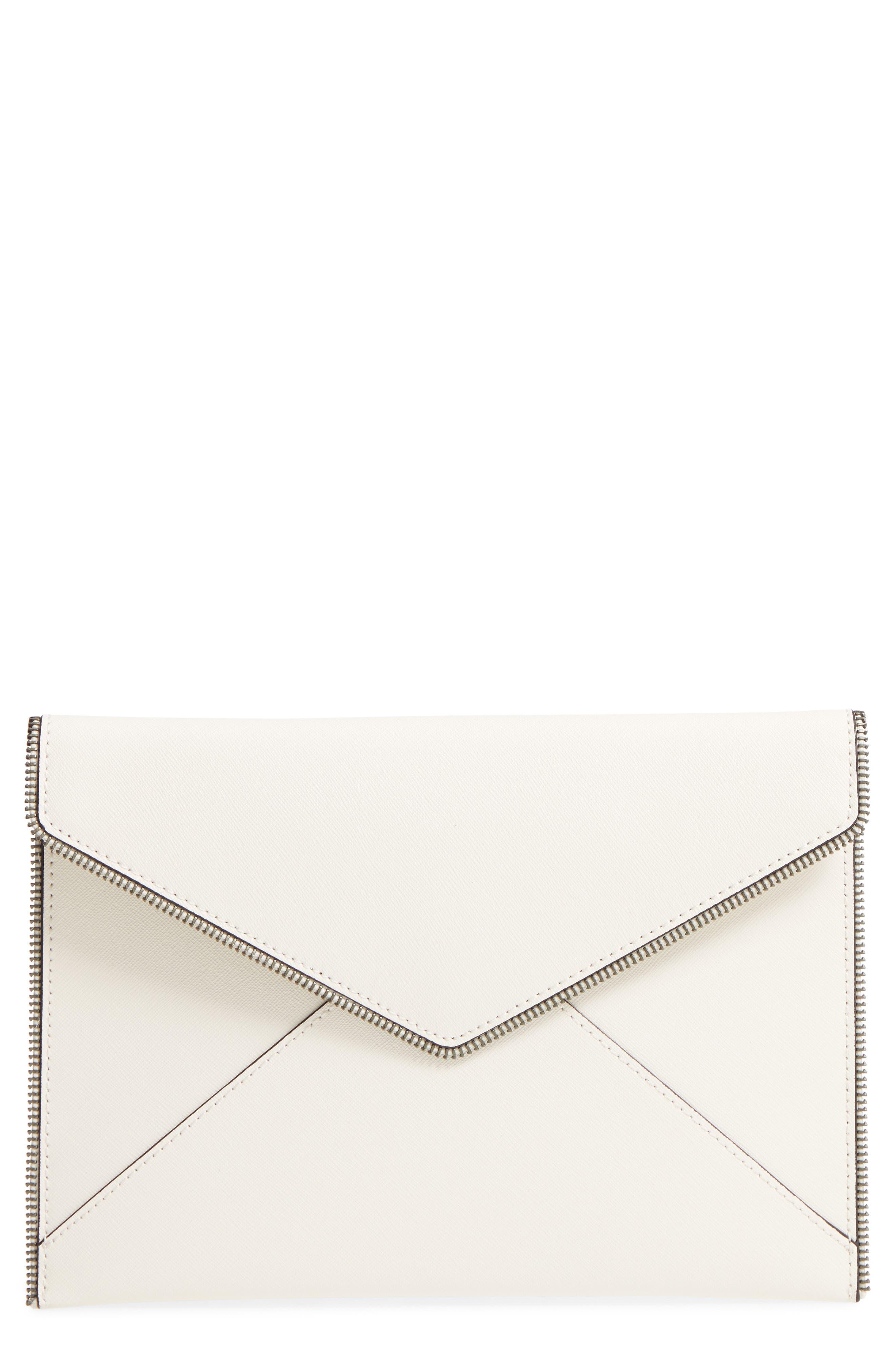 Leo Envelope Clutch,                             Main thumbnail 1, color,                             Antique White