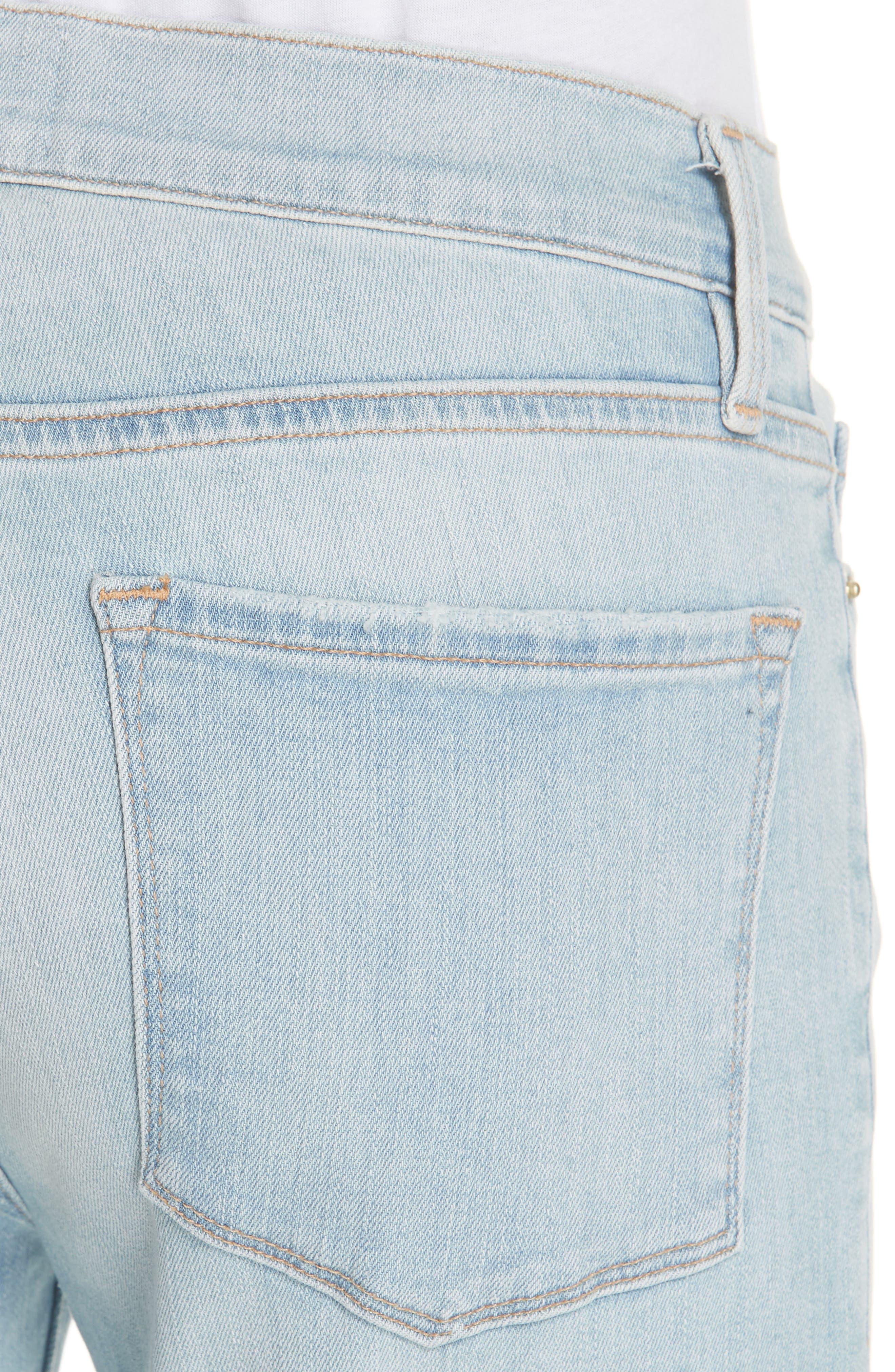 Le Skinny de Jeanne Crop Jeans,                             Alternate thumbnail 4, color,                             Southall