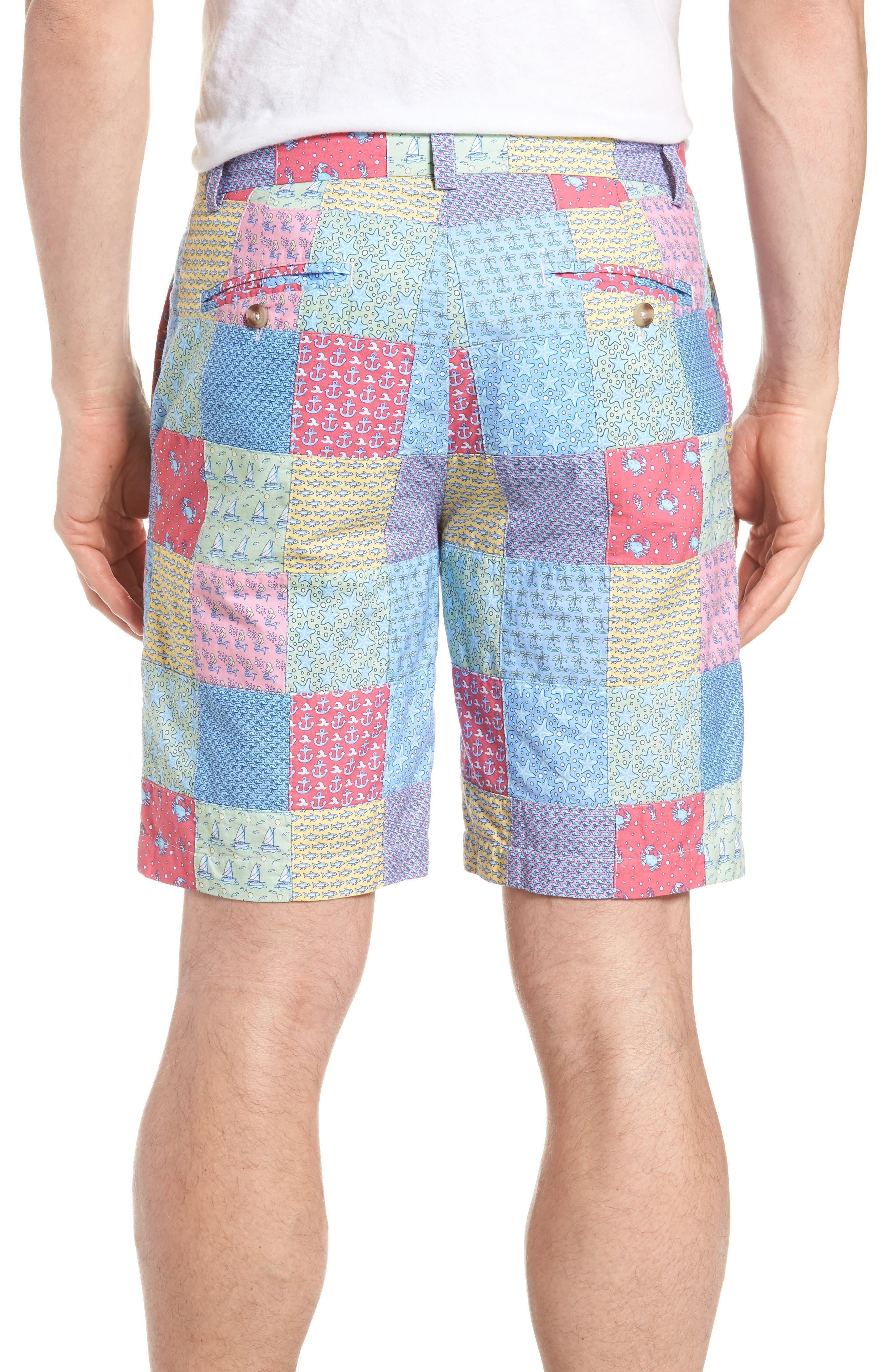 Patchwork Breaker Shorts,                             Alternate thumbnail 2, color,                             Sailors Red