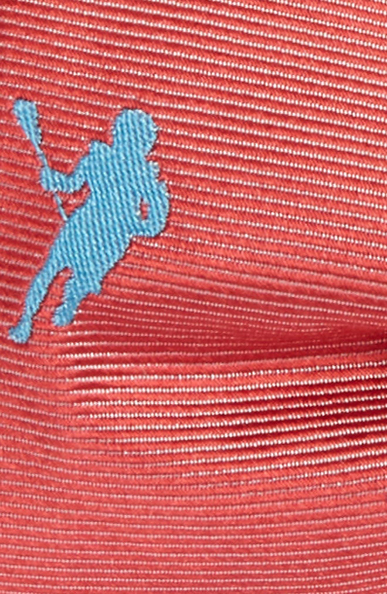 Littleton Lacrosse Silk Bow Tie,                             Alternate thumbnail 2, color,                             Coral