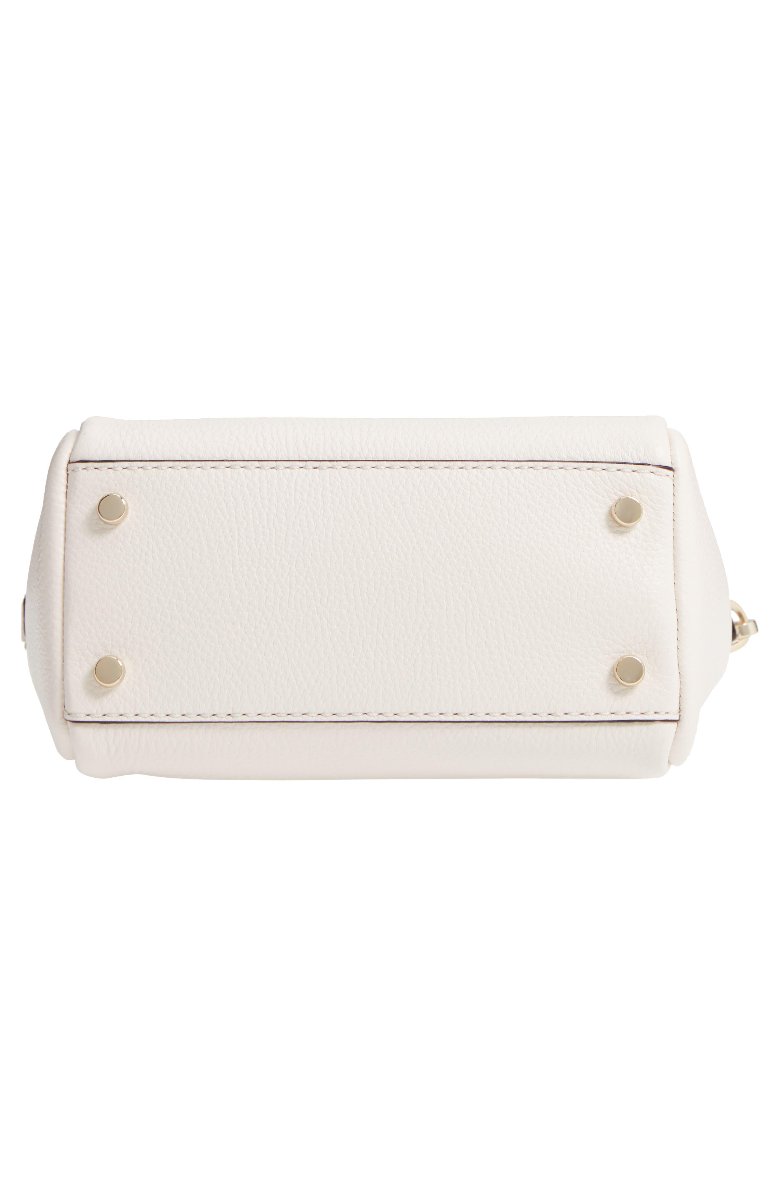 kingston drive - mini alena leather satchel,                             Alternate thumbnail 6, color,                             Bleach Bone