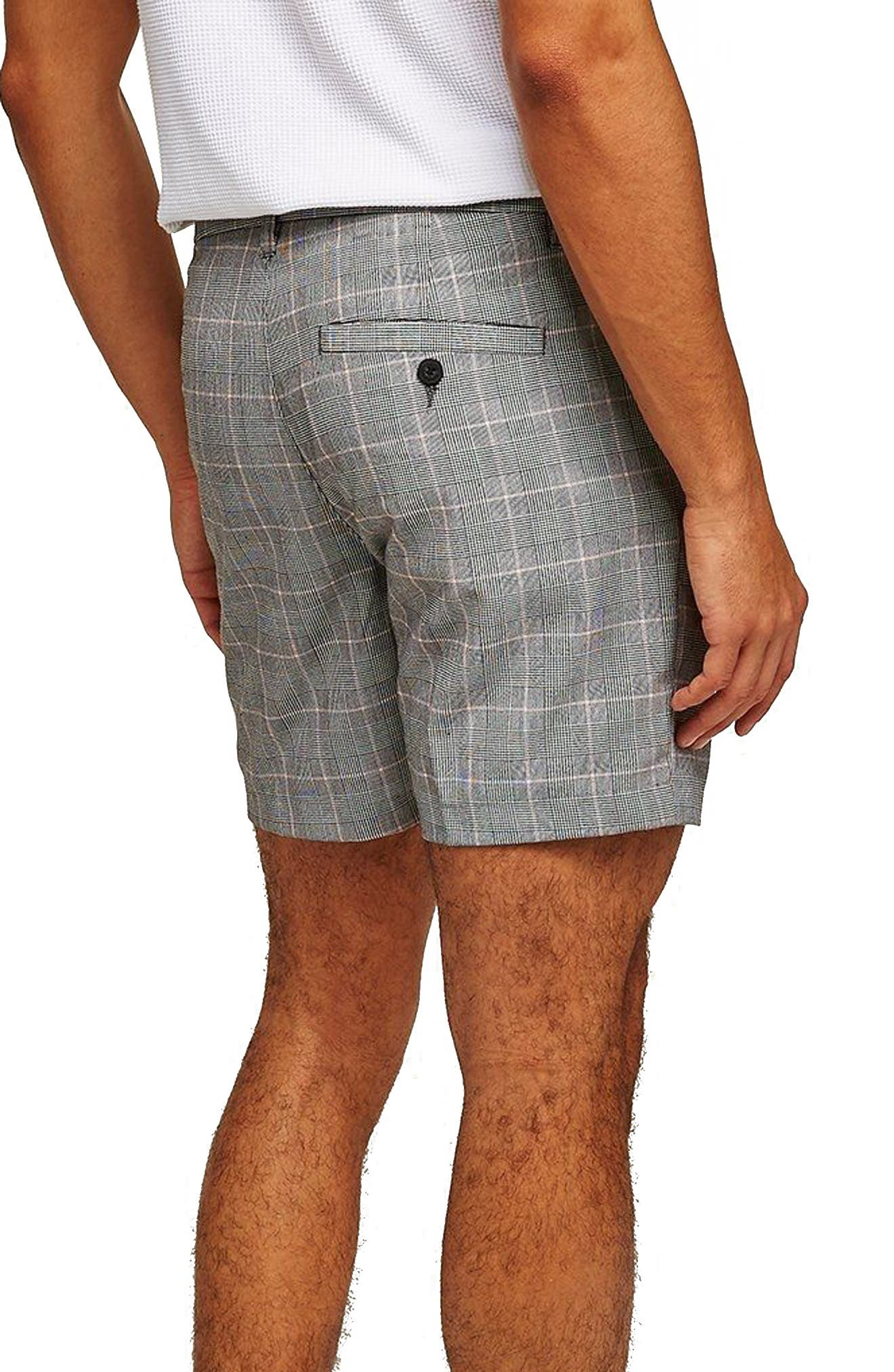 Pleated Check Shorts,                             Alternate thumbnail 2, color,                             Grey Multi