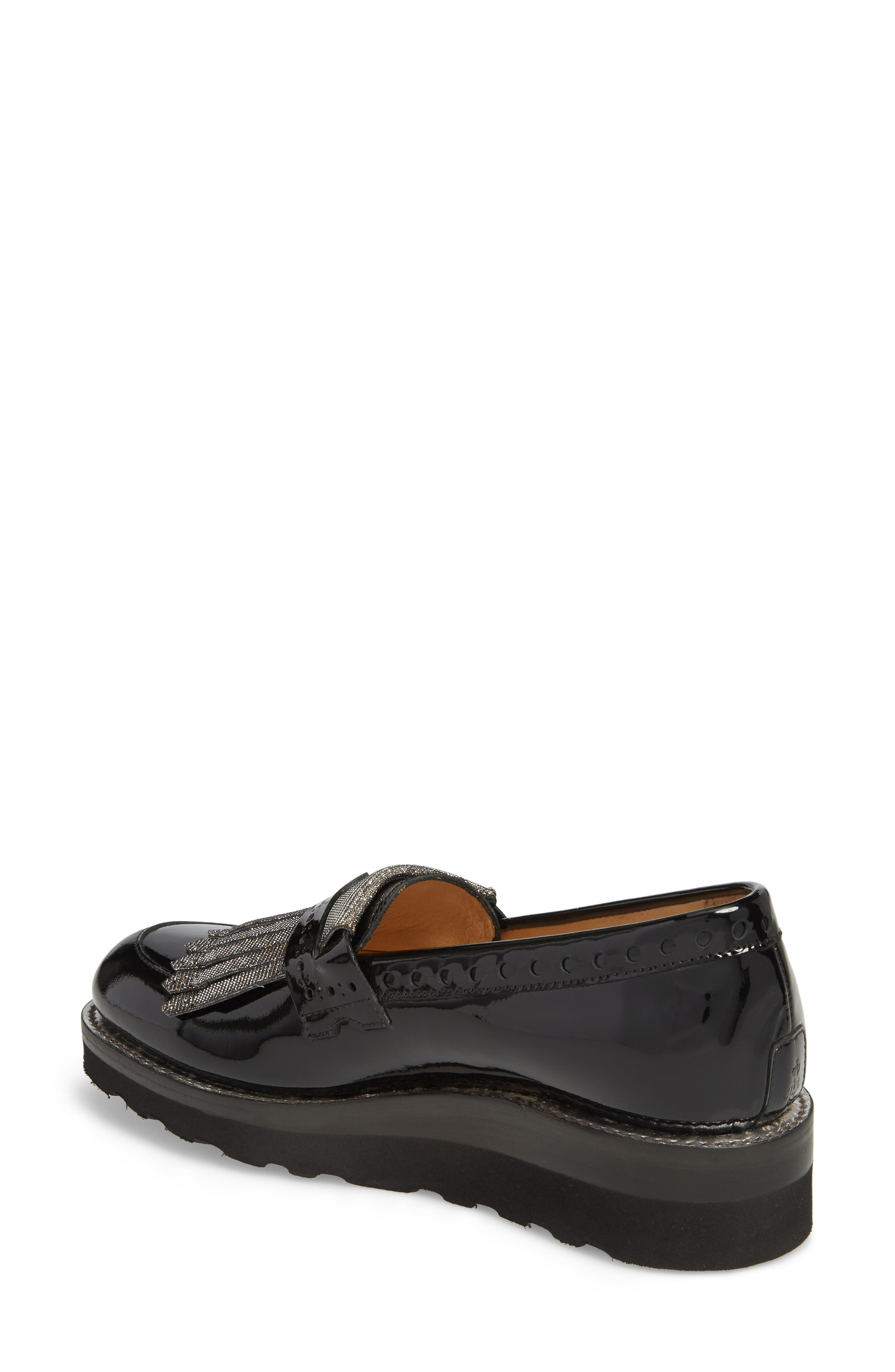 Mr. Pennywise Wedge Loafer,                             Alternate thumbnail 2, color,                             Black Metallic