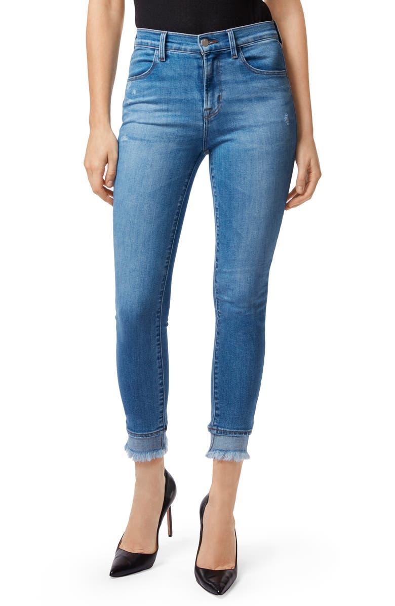 Alana Frayed High Waist Ankle Skinny Jeans