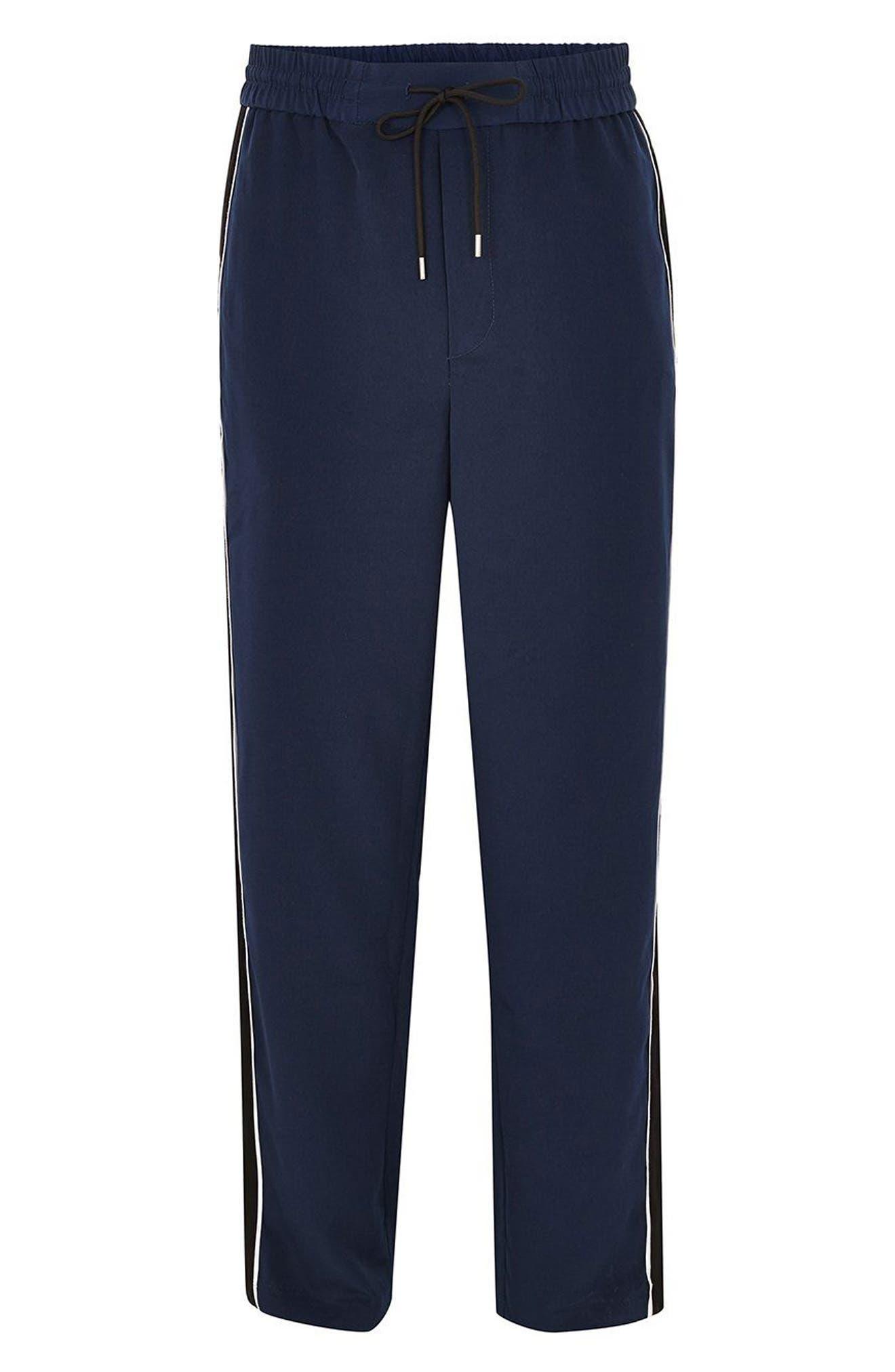 Side Panel Track Pants,                             Alternate thumbnail 3, color,                             Navy Blue
