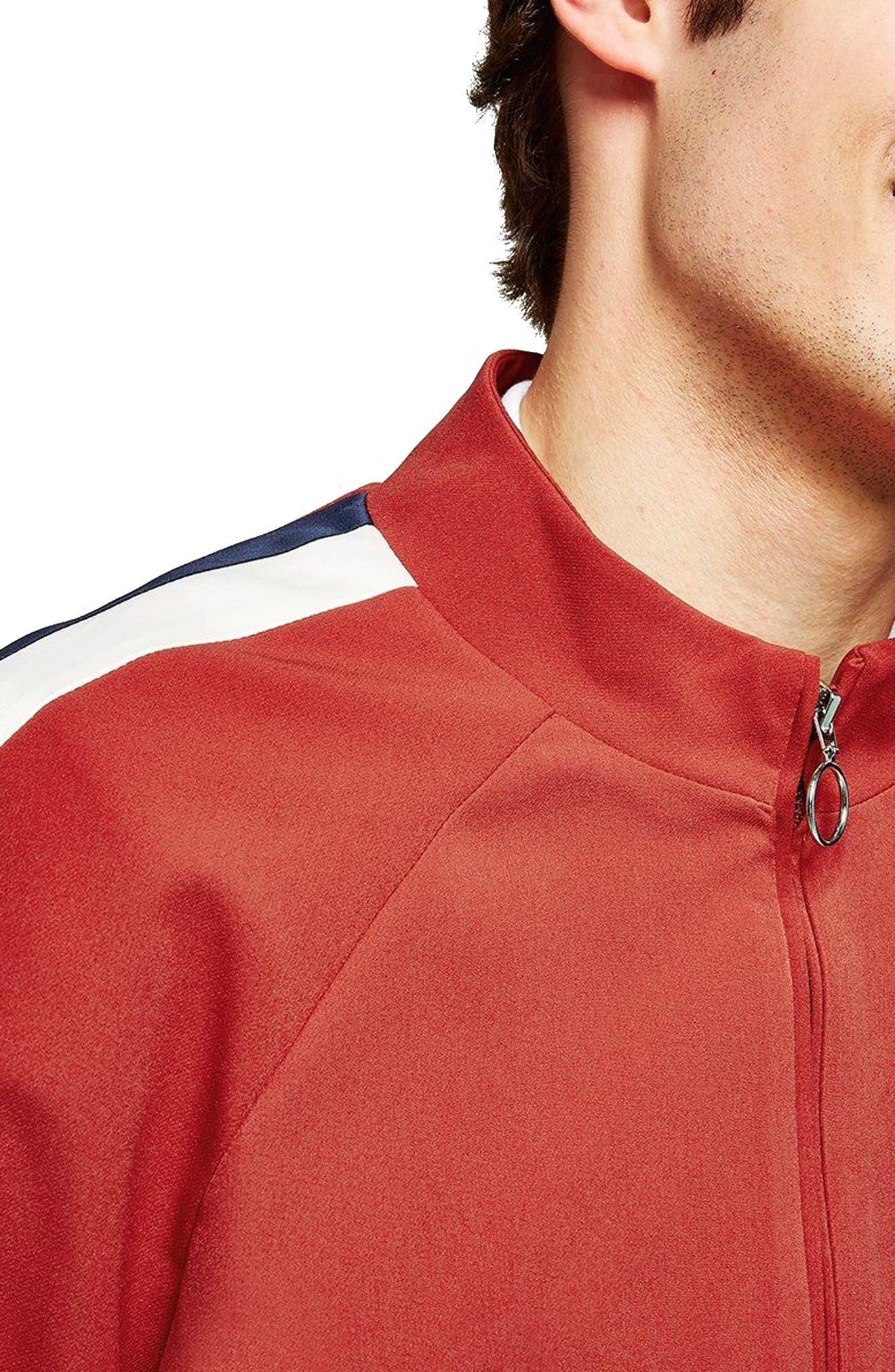 Side Stripe Track Jacket,                             Alternate thumbnail 2, color,                             Red Multi