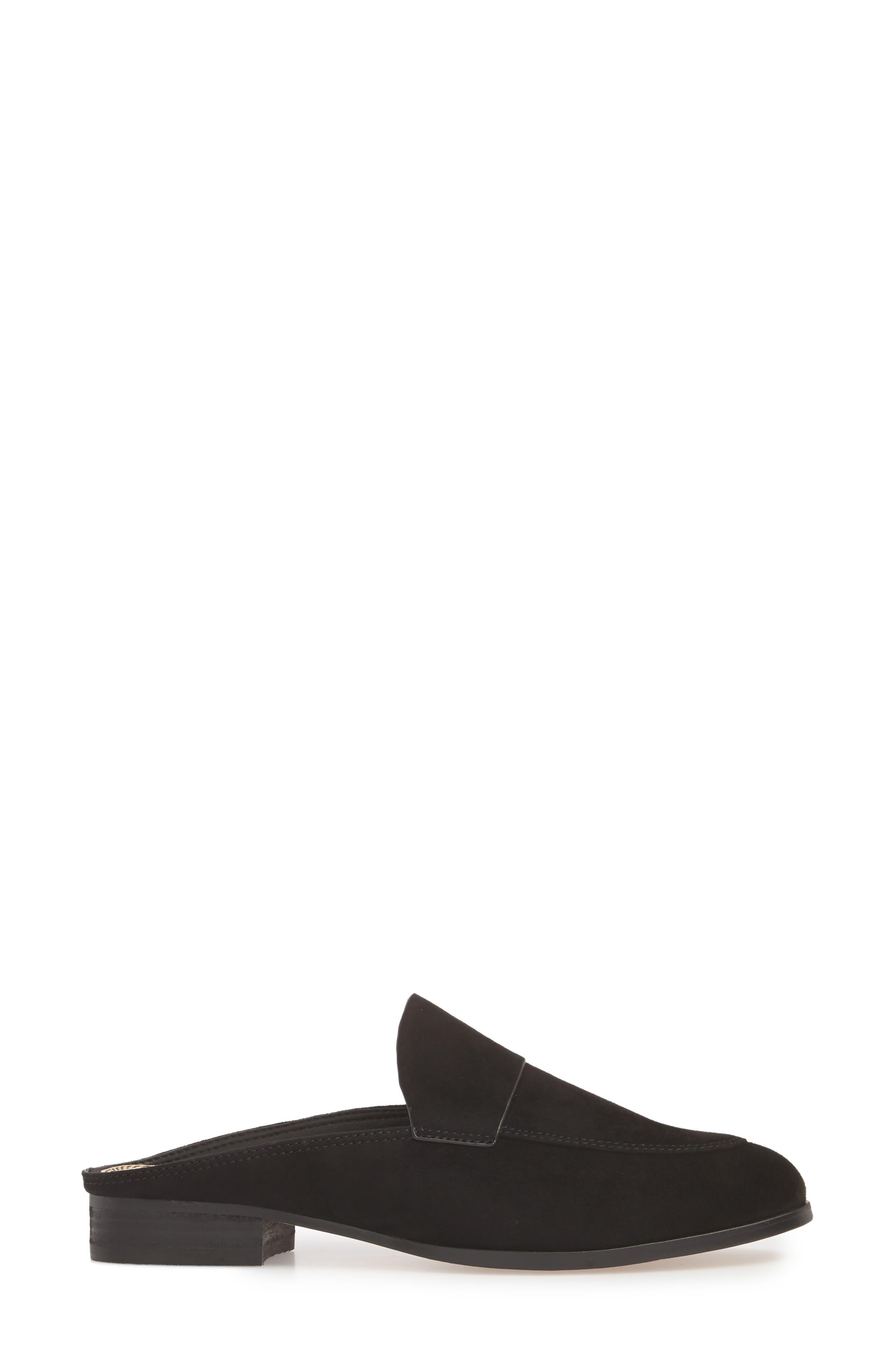 Nima Loafer Mule,                             Alternate thumbnail 6, color,                             Black Suede