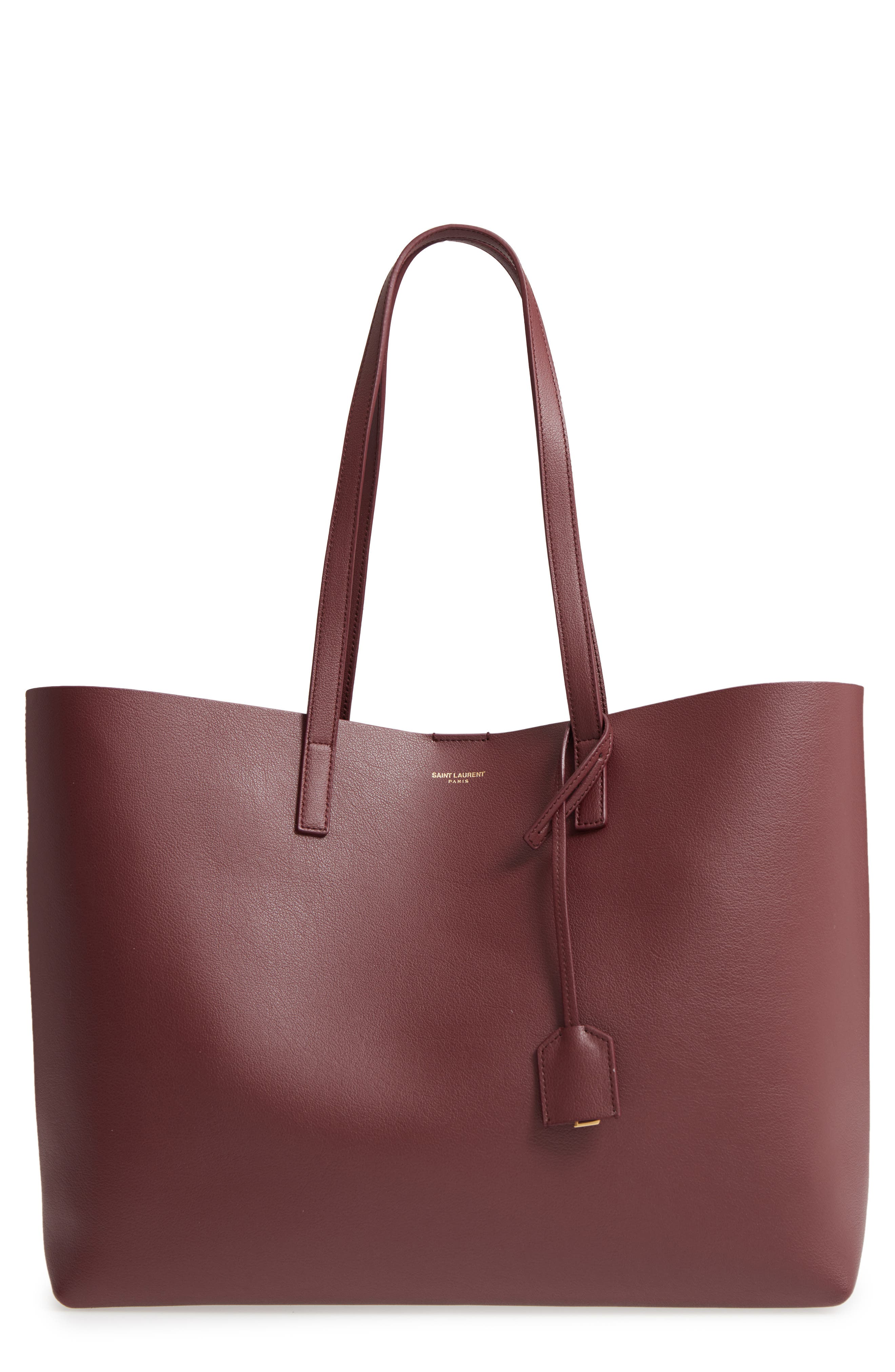 'Shopping' Leather Tote,                             Main thumbnail 1, color,                             Rouge Legion
