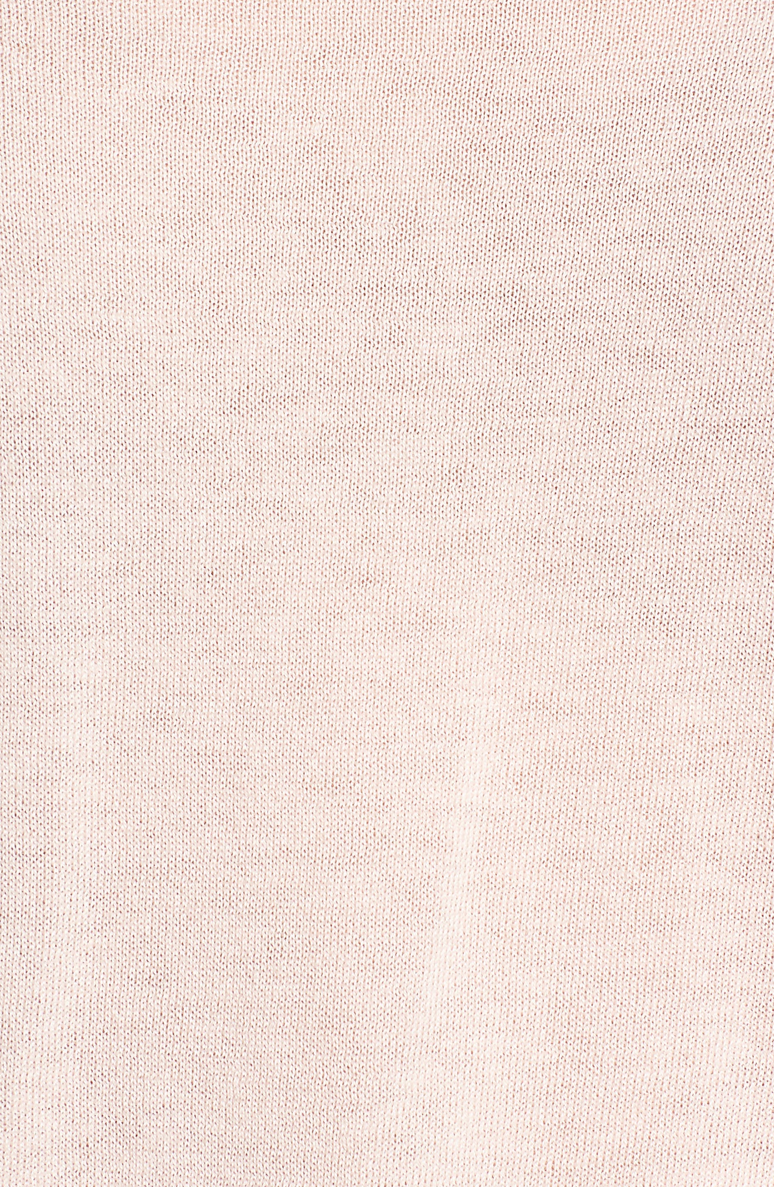 Convertible Bateau Neck Sweater,                             Alternate thumbnail 5, color,                             Pink Peach
