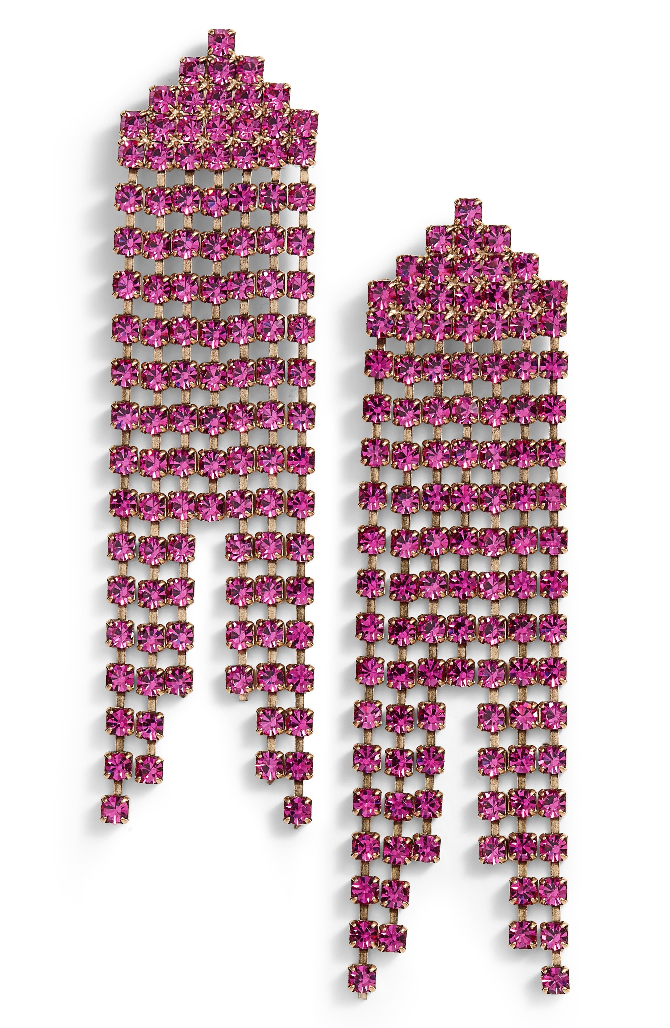Marissa Drop Earrings,                         Main,                         color, Violet