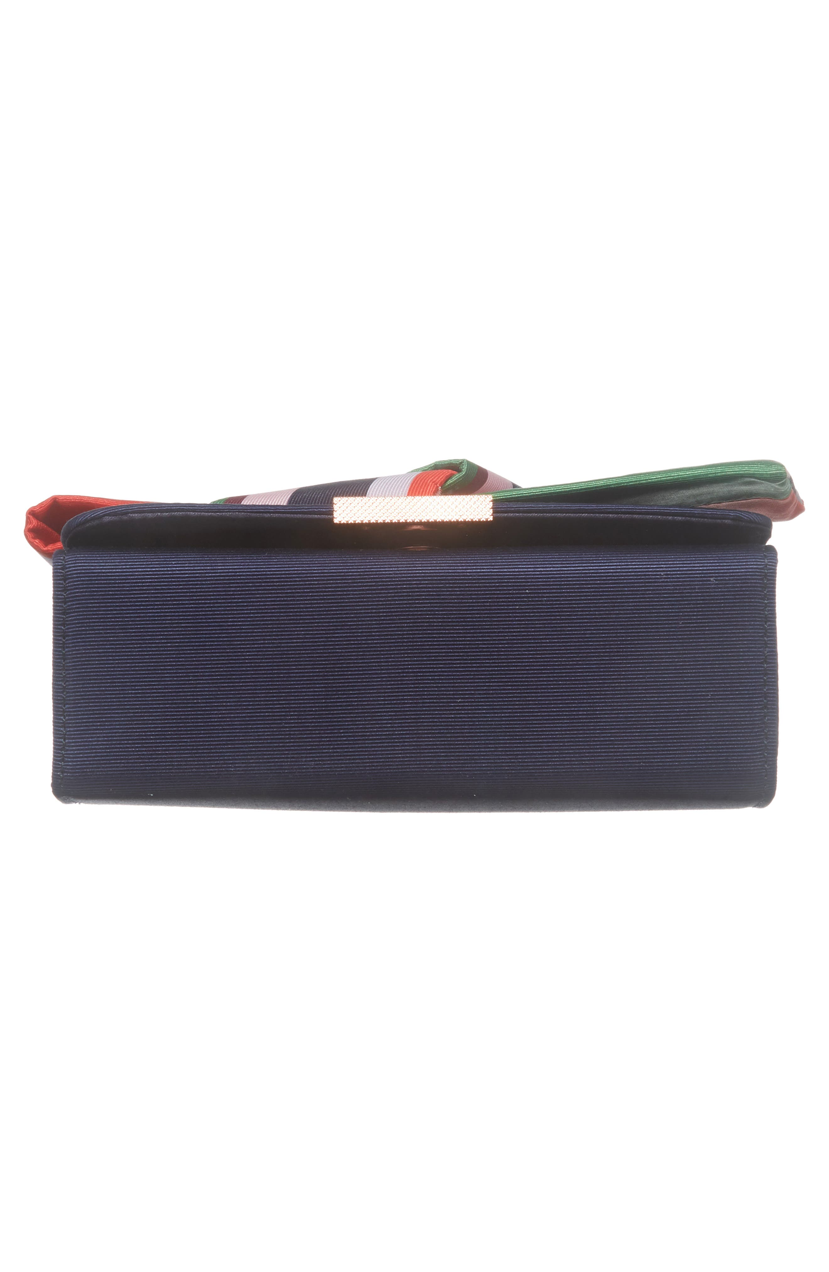 Bay of Hon Knotted Bow Clutch,                             Alternate thumbnail 6, color,                             Navy