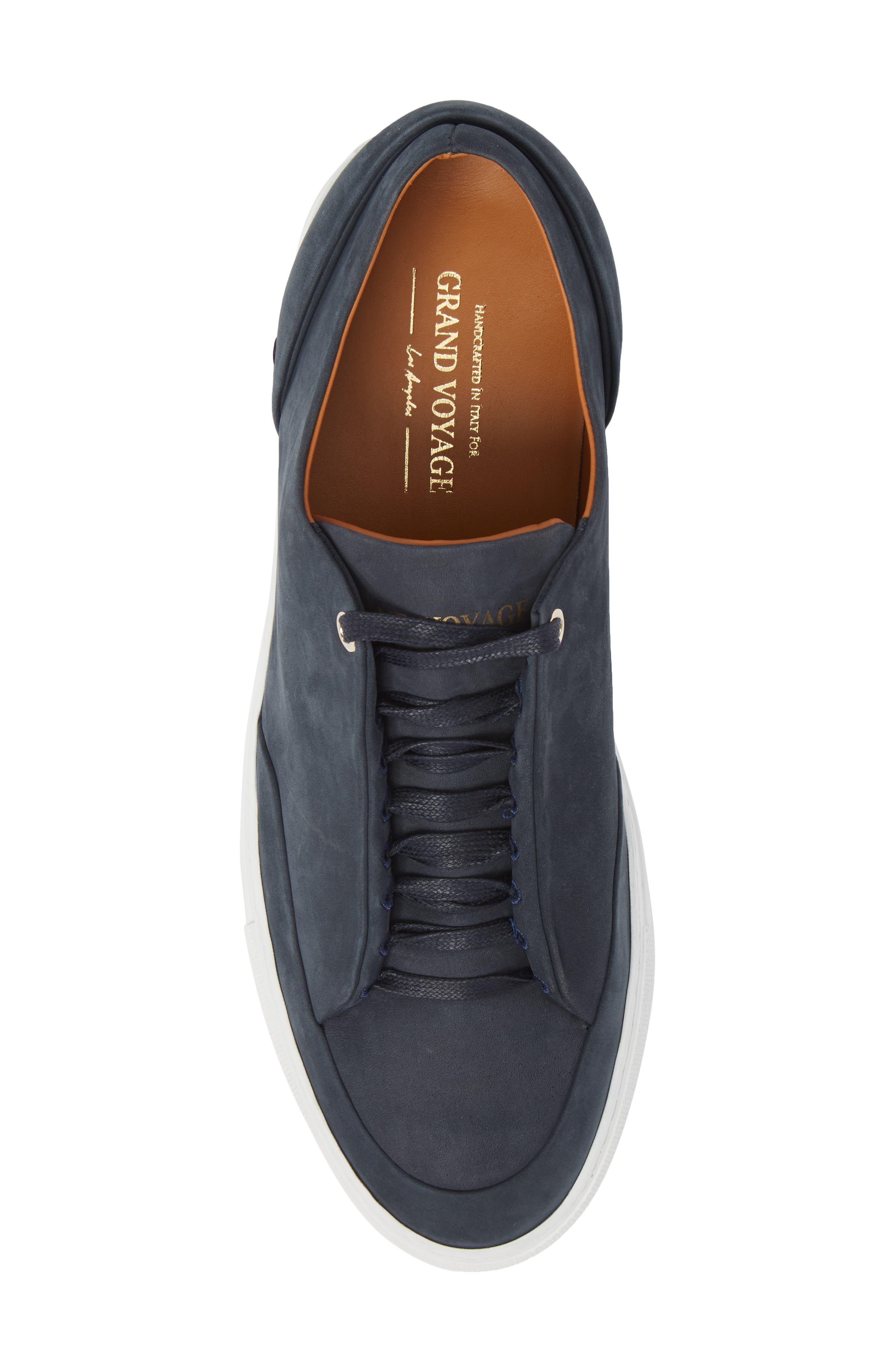 Avedon Sneaker,                             Alternate thumbnail 5, color,                             Navy Nubuck Leather