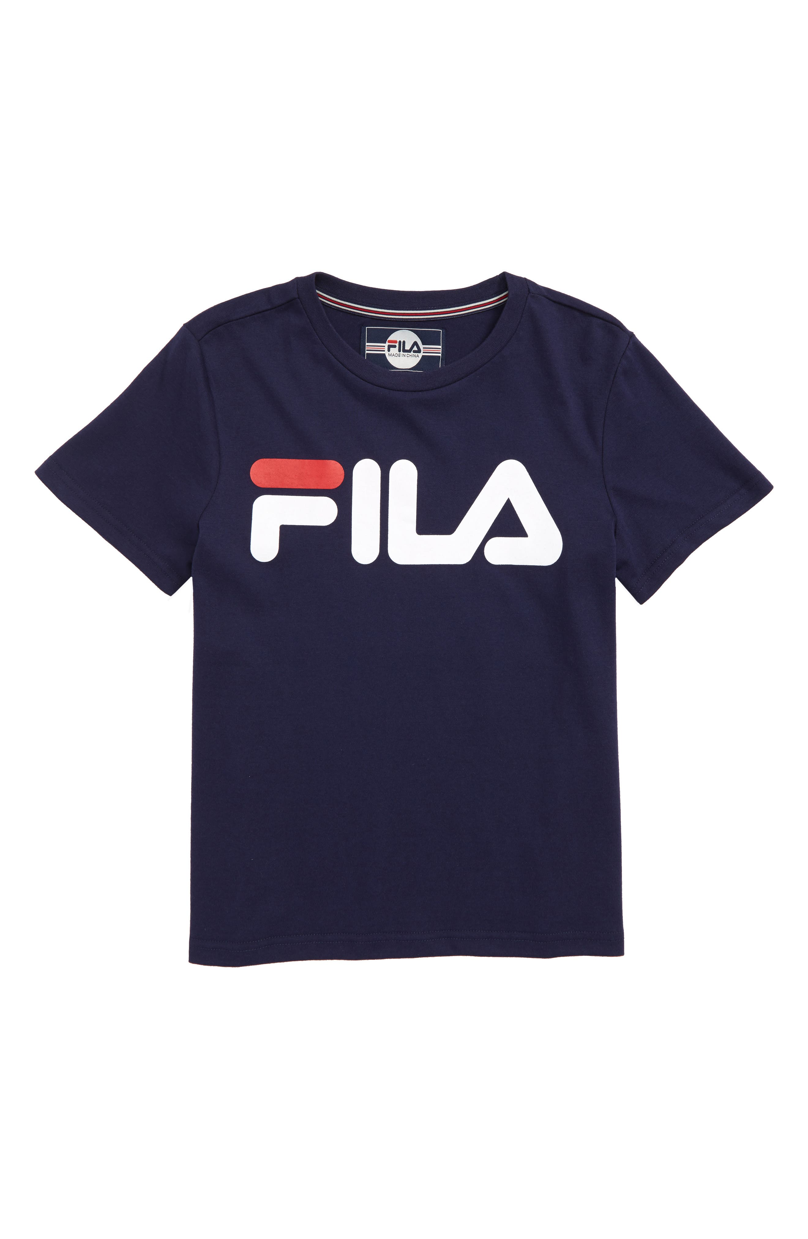 Classic Logo T-Shirt,                         Main,                         color, Navy
