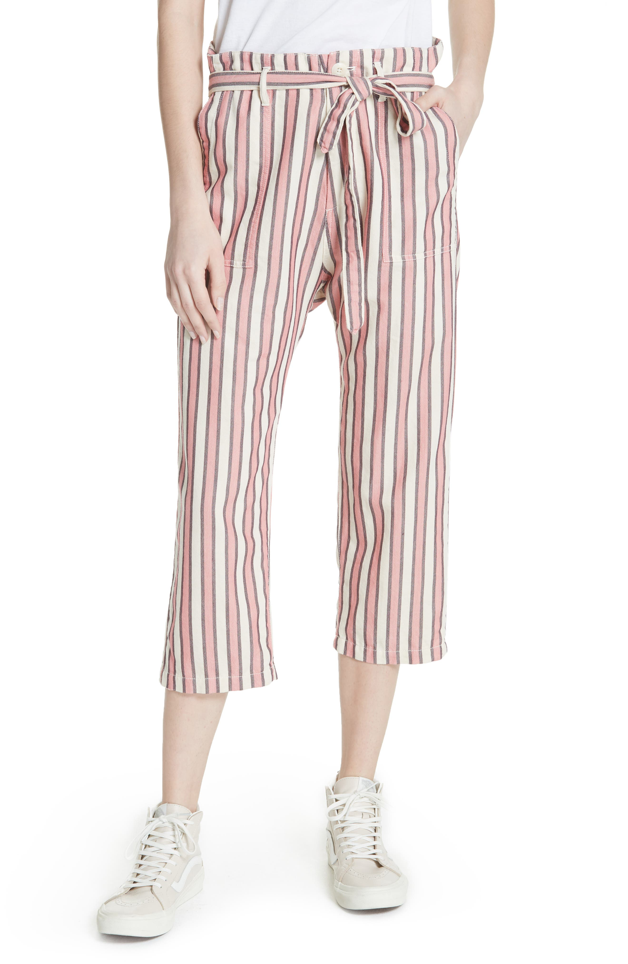 The Convertible Trousers,                             Main thumbnail 1, color,                             Pink Taffy Stripe