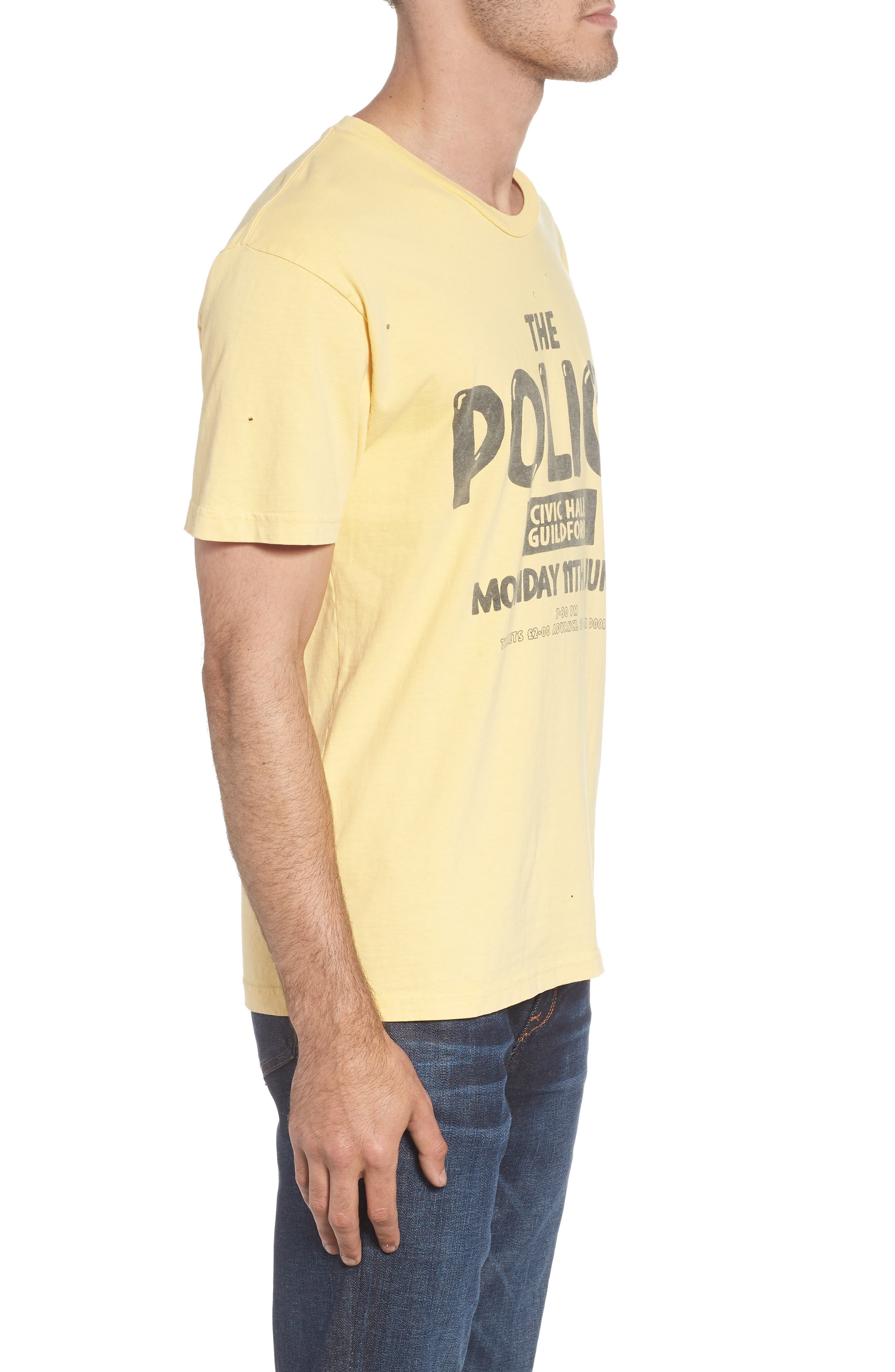 The Police Graphic T-Shirt,                             Alternate thumbnail 5, color,                             Antique Yellow