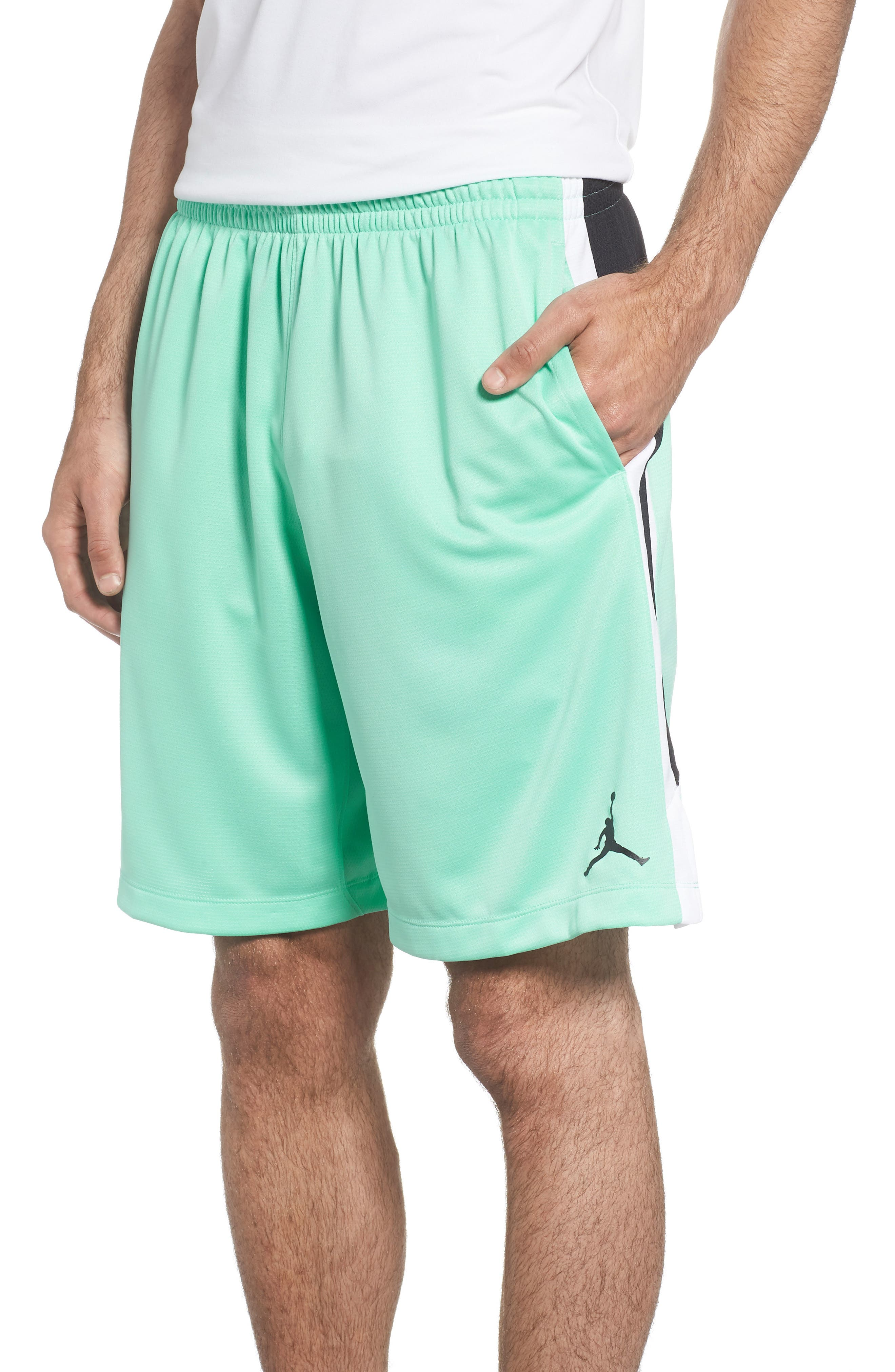 Jordan Dry Flight Shorts,                             Main thumbnail 1, color,                             Emerald Rise/ Black/ White