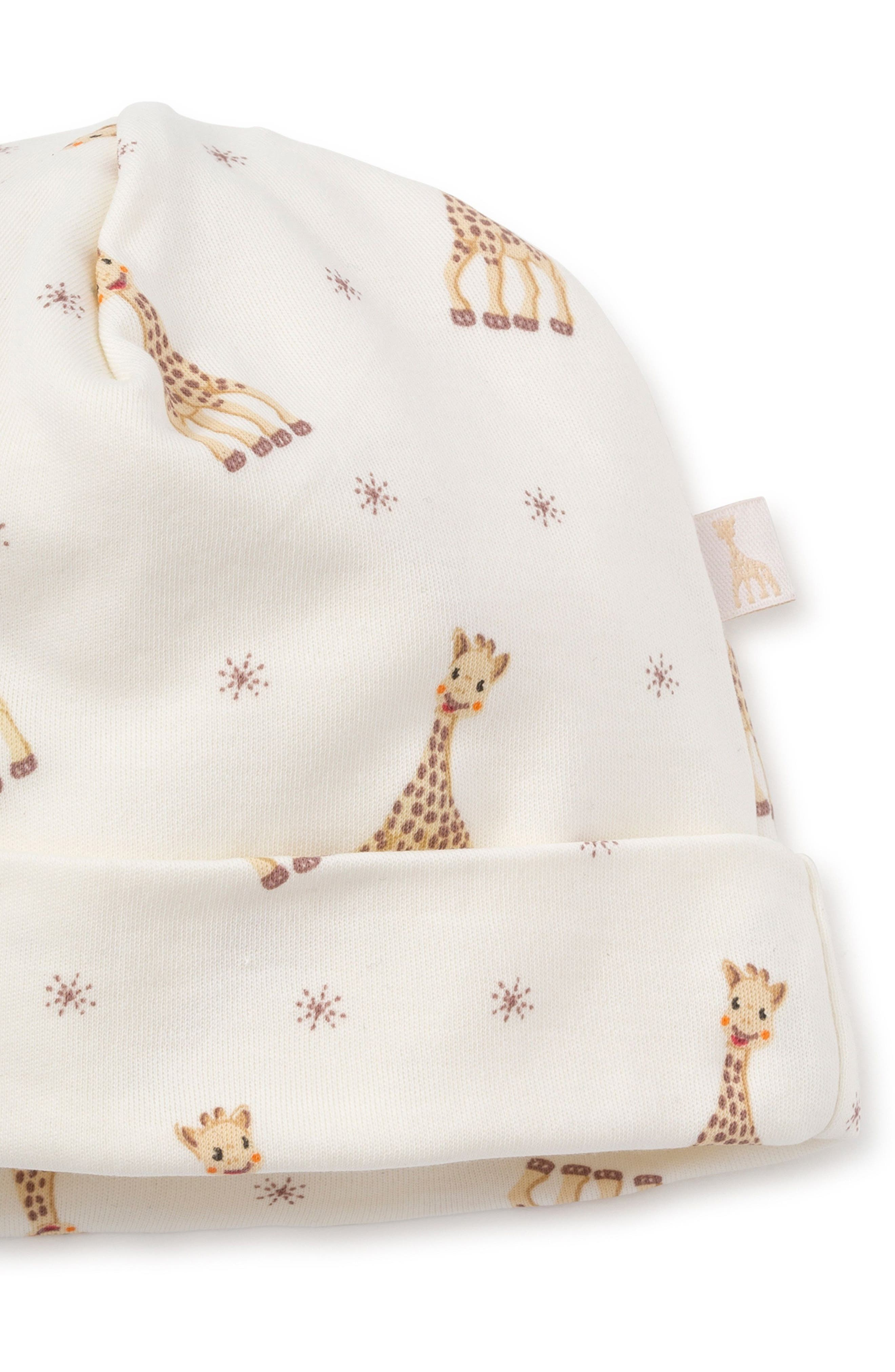x Sophie la Girafe Beanie Hat,                             Alternate thumbnail 2, color,                             Ecru