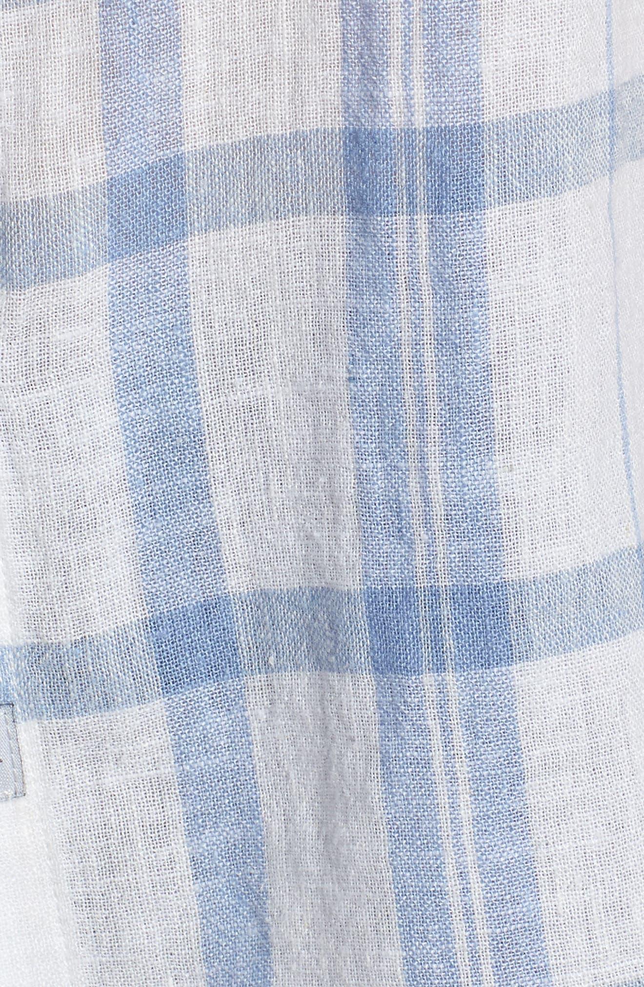 Mia Plaid Shirt,                             Alternate thumbnail 3, color,                             True Blue White