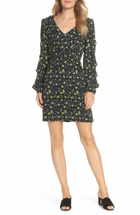 Forest Lily Floral Ruffle Sleeve Dress by FOREST LILY