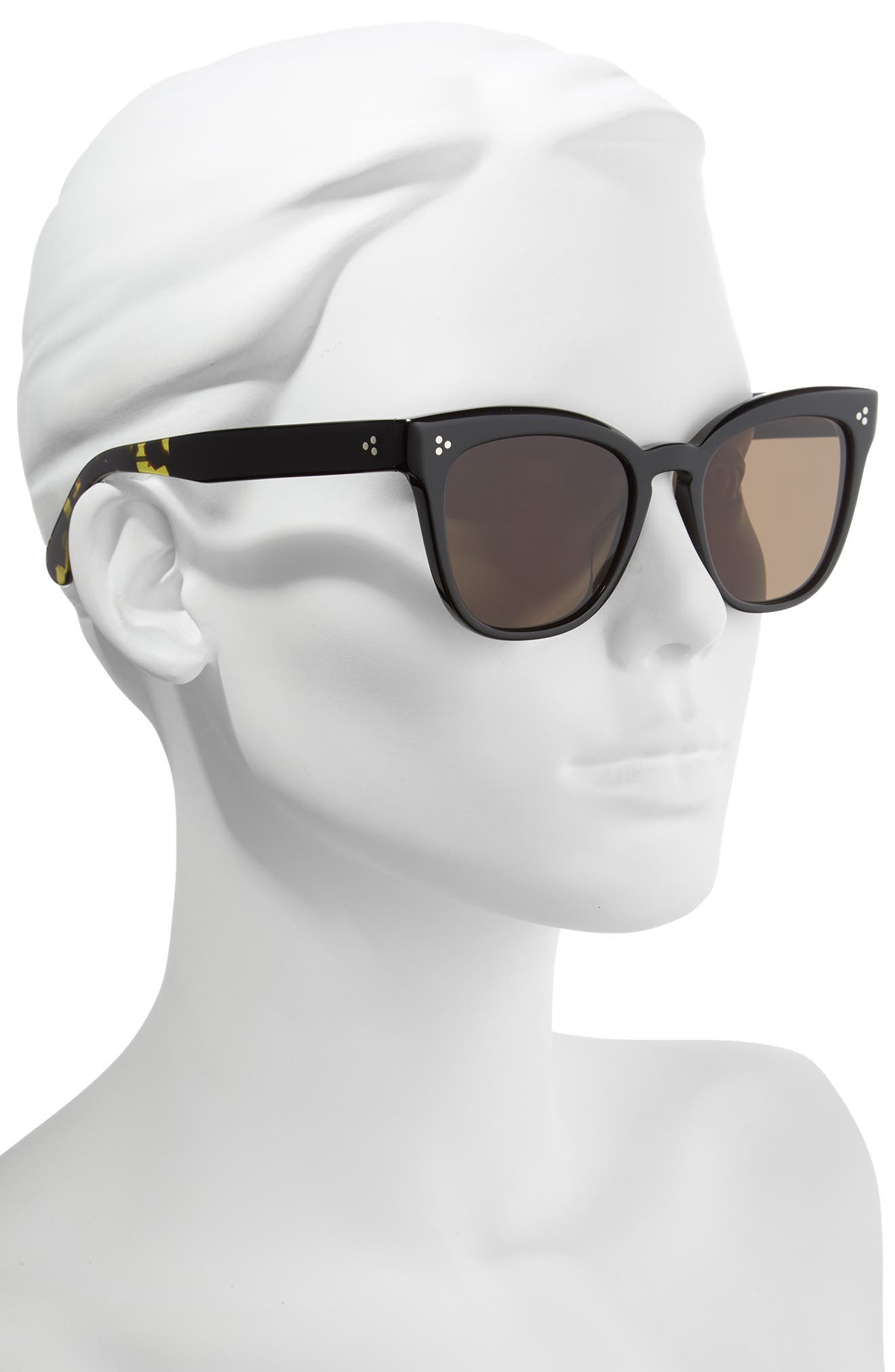 Marianela 54mm Cat Eye Sunglasses,                             Alternate thumbnail 2, color,                             Black