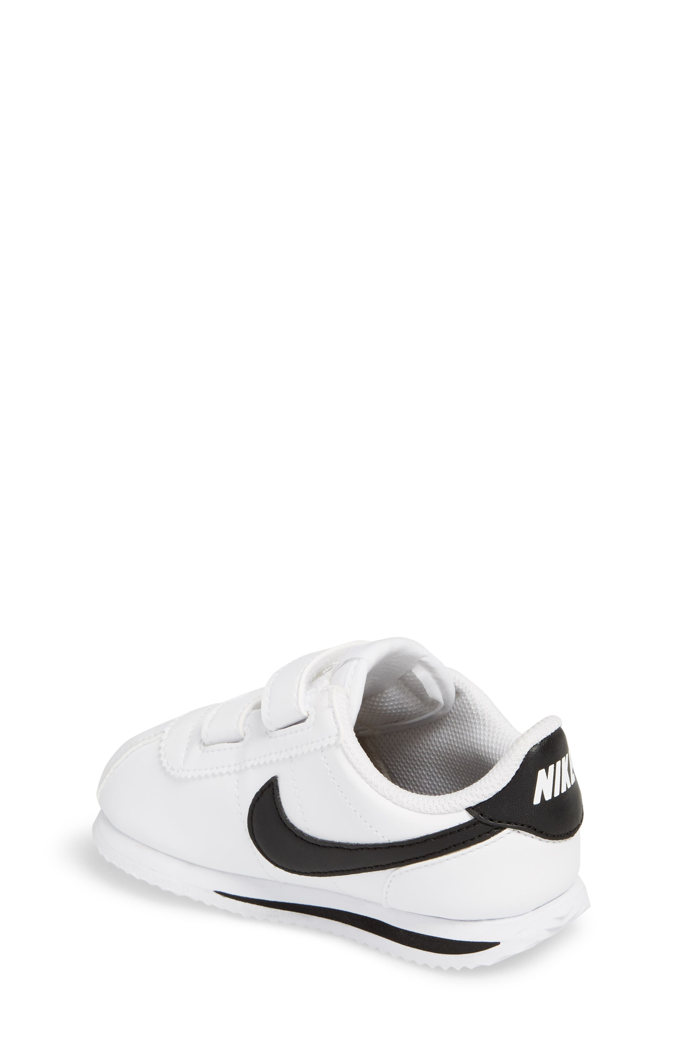 Cortez Basic SL Sneaker,                             Alternate thumbnail 2, color,                             White/ Black