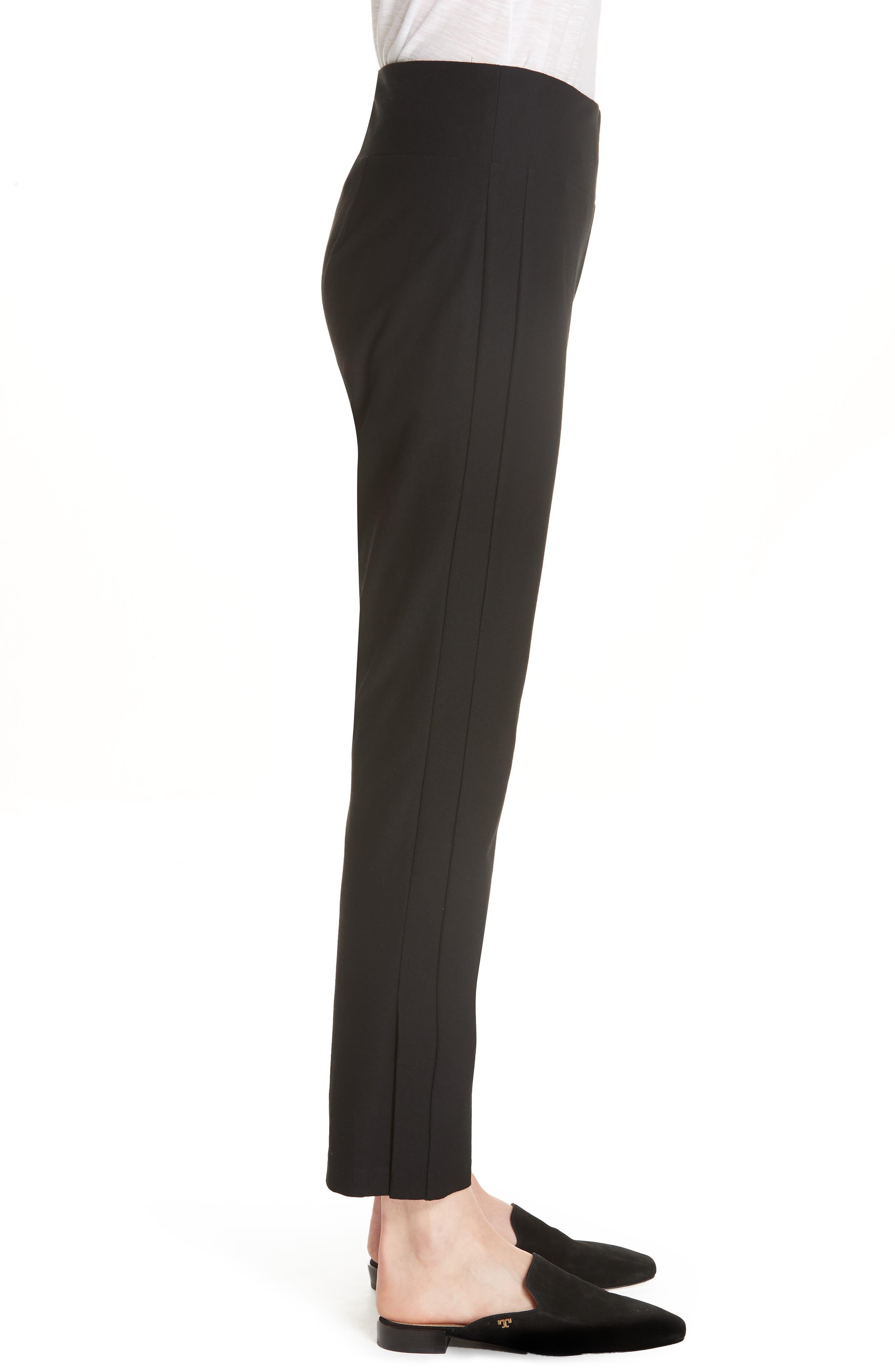 Slim Knit Pants,                             Alternate thumbnail 5, color,                             Black