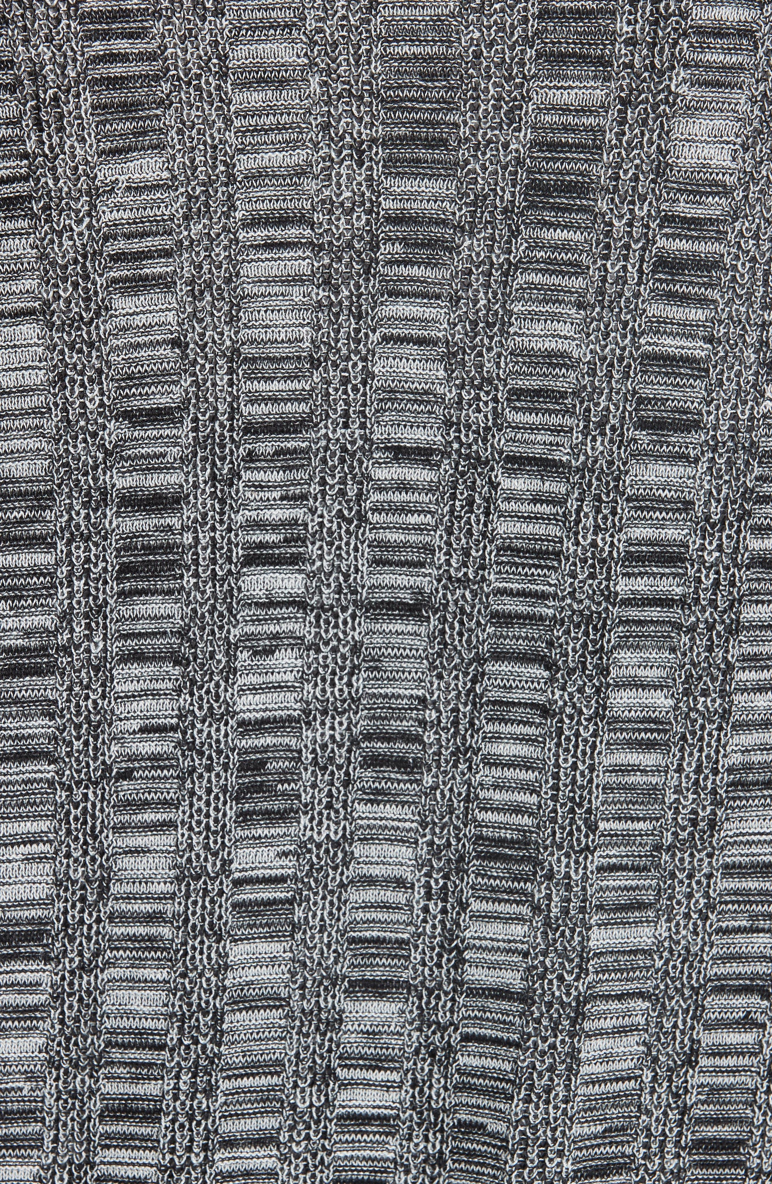 Bell Sleeve Silk Blend Cardigan,                             Alternate thumbnail 5, color,                             Black