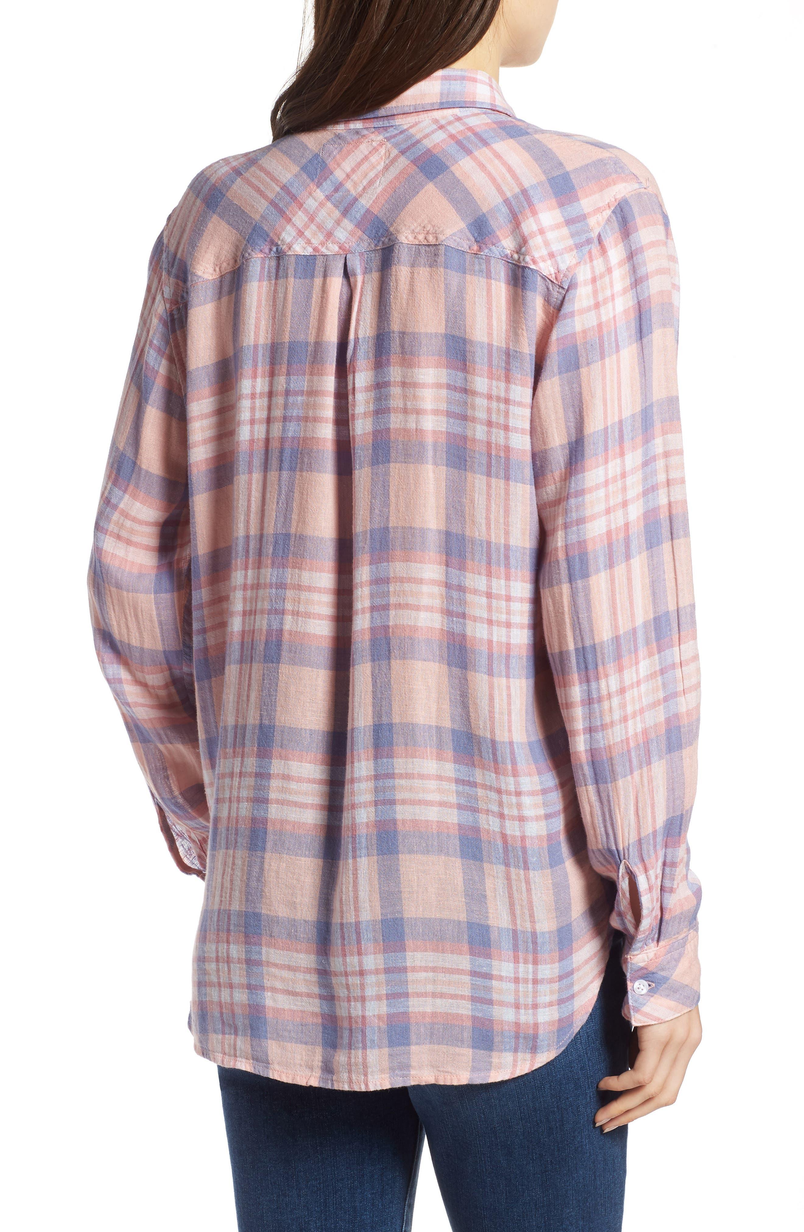Charli Shirt,                             Alternate thumbnail 2, color,                             Peach Blush Blue