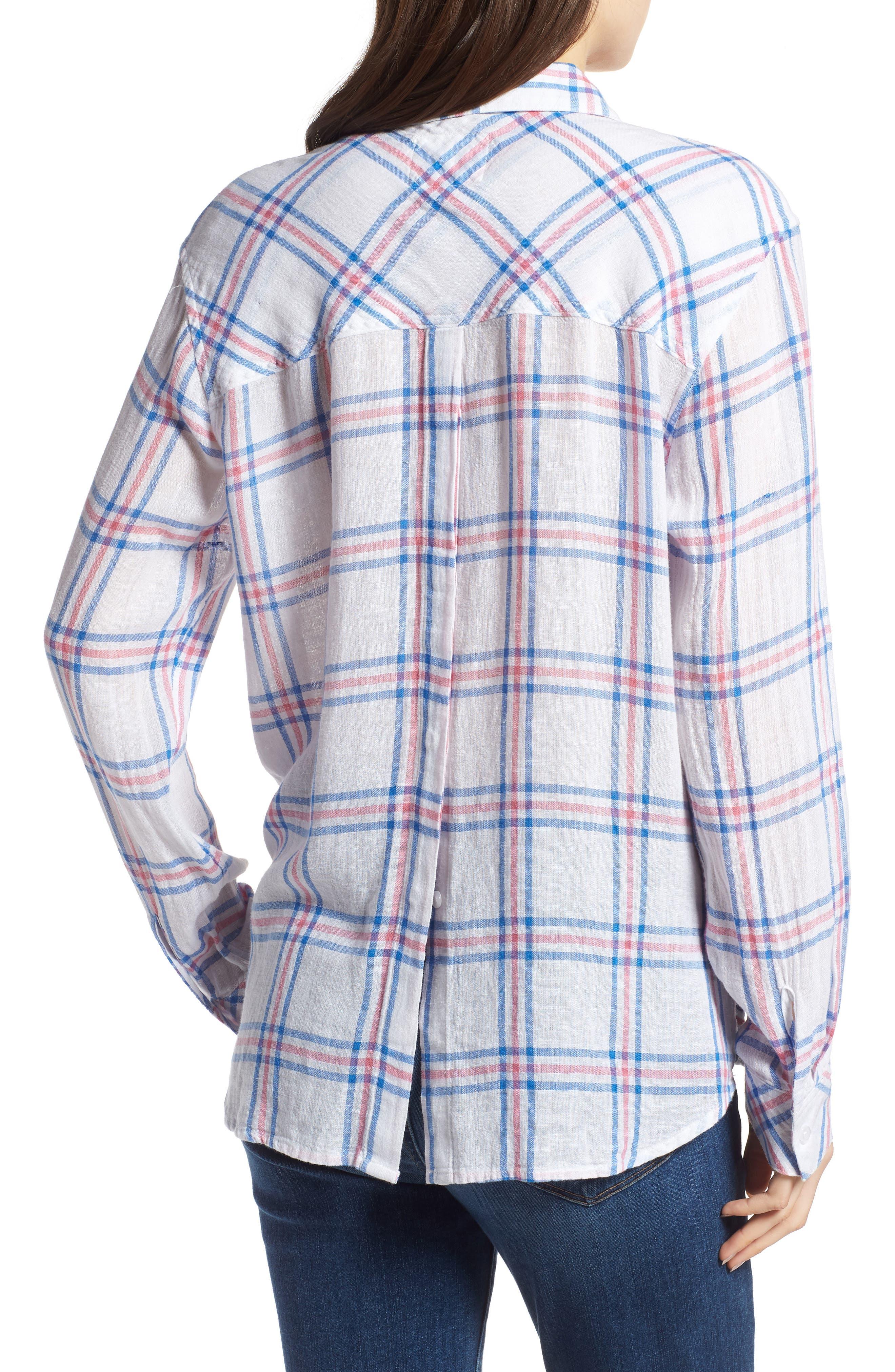 Sydney Stripe Shirt,                             Alternate thumbnail 2, color,                             Raspberry Azure White