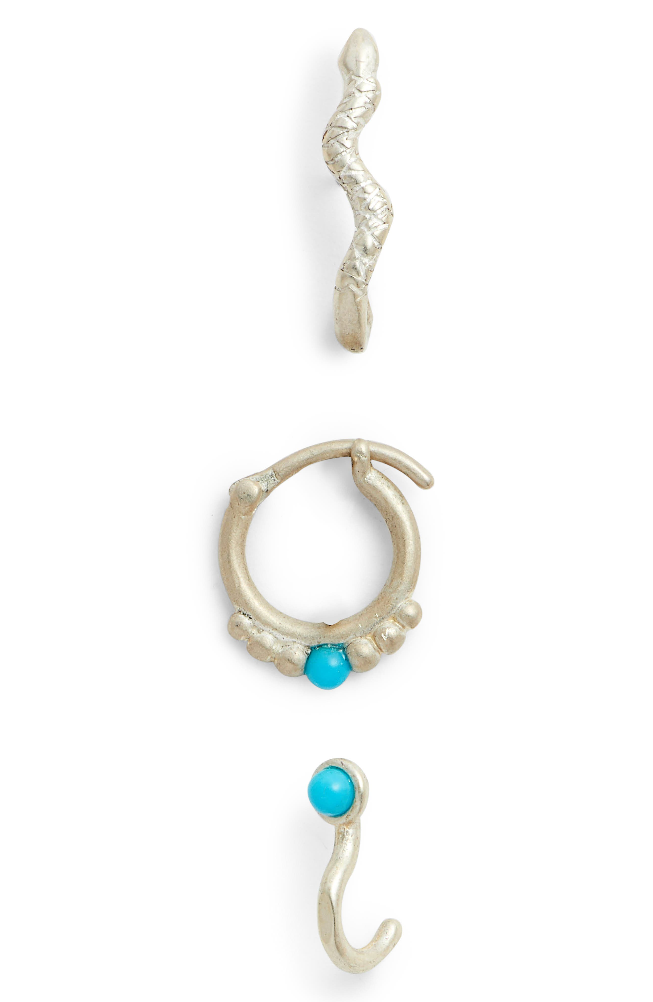 DOGEARED PERFECT TURQUOISE 3-PIECE EARRING SET