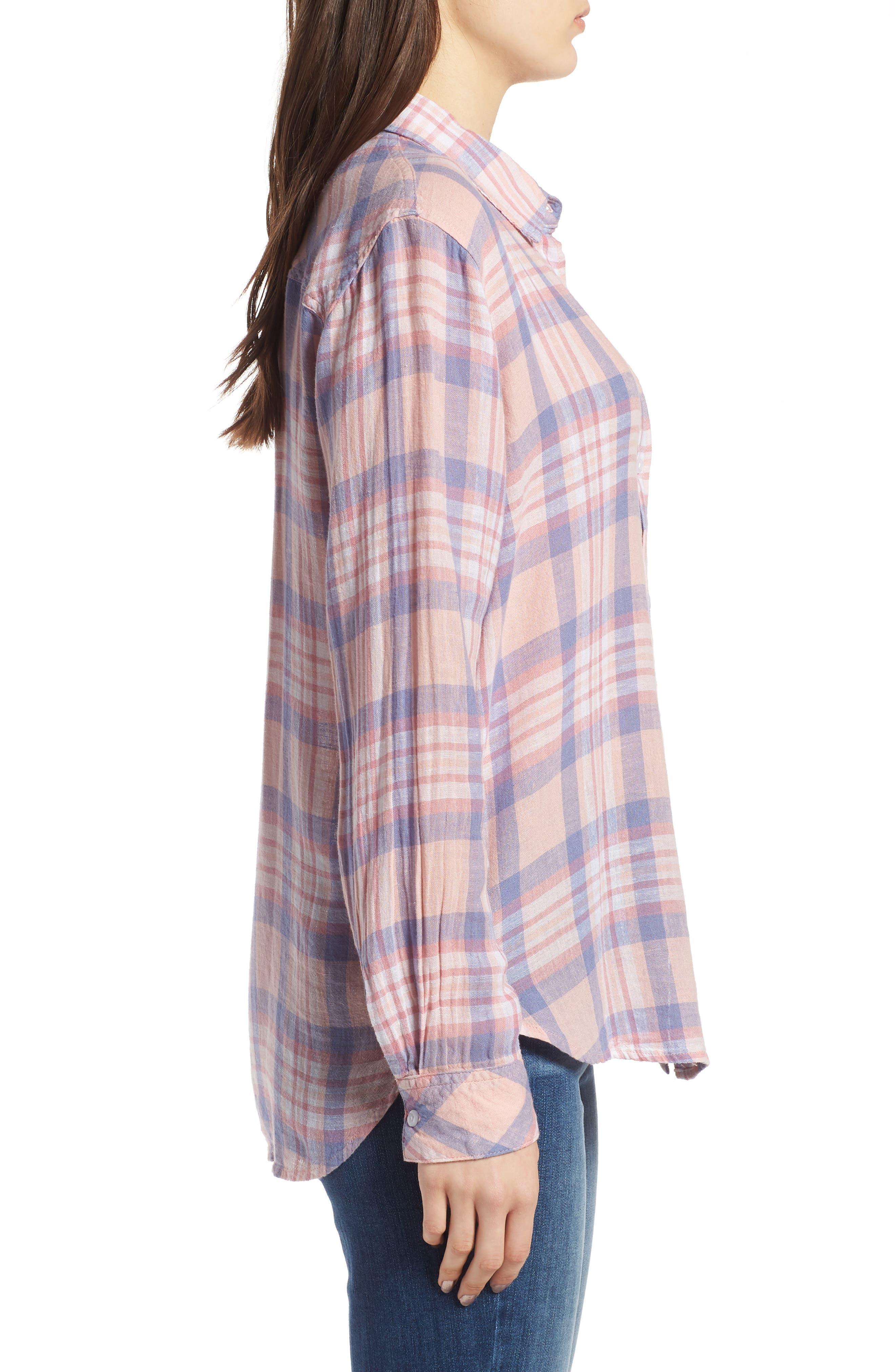 Charli Shirt,                             Alternate thumbnail 6, color,                             Peach Blush Blue